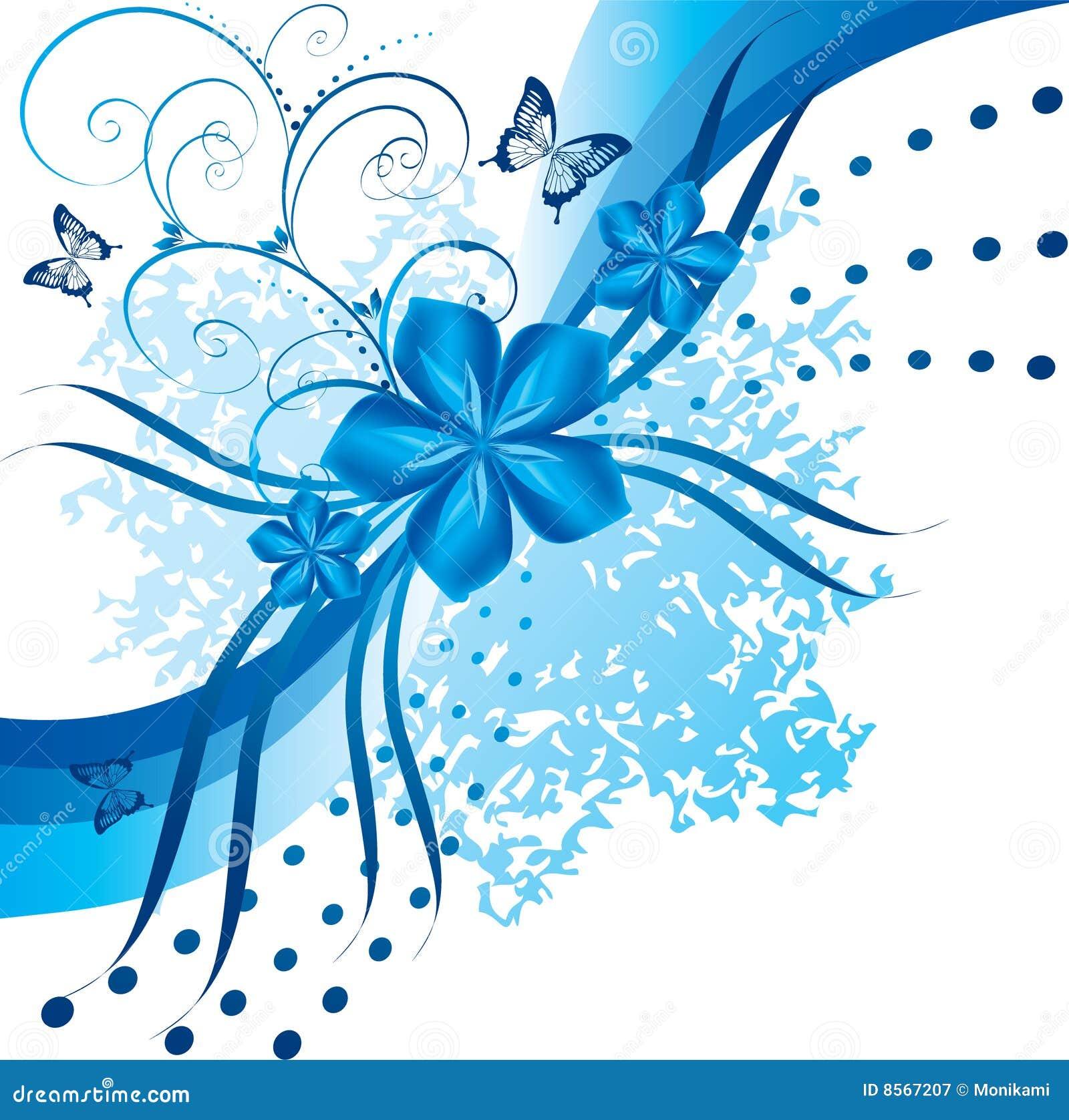 flores azules abstractas ilustraci n del vector ilustraci n de ornamento 8567207. Black Bedroom Furniture Sets. Home Design Ideas