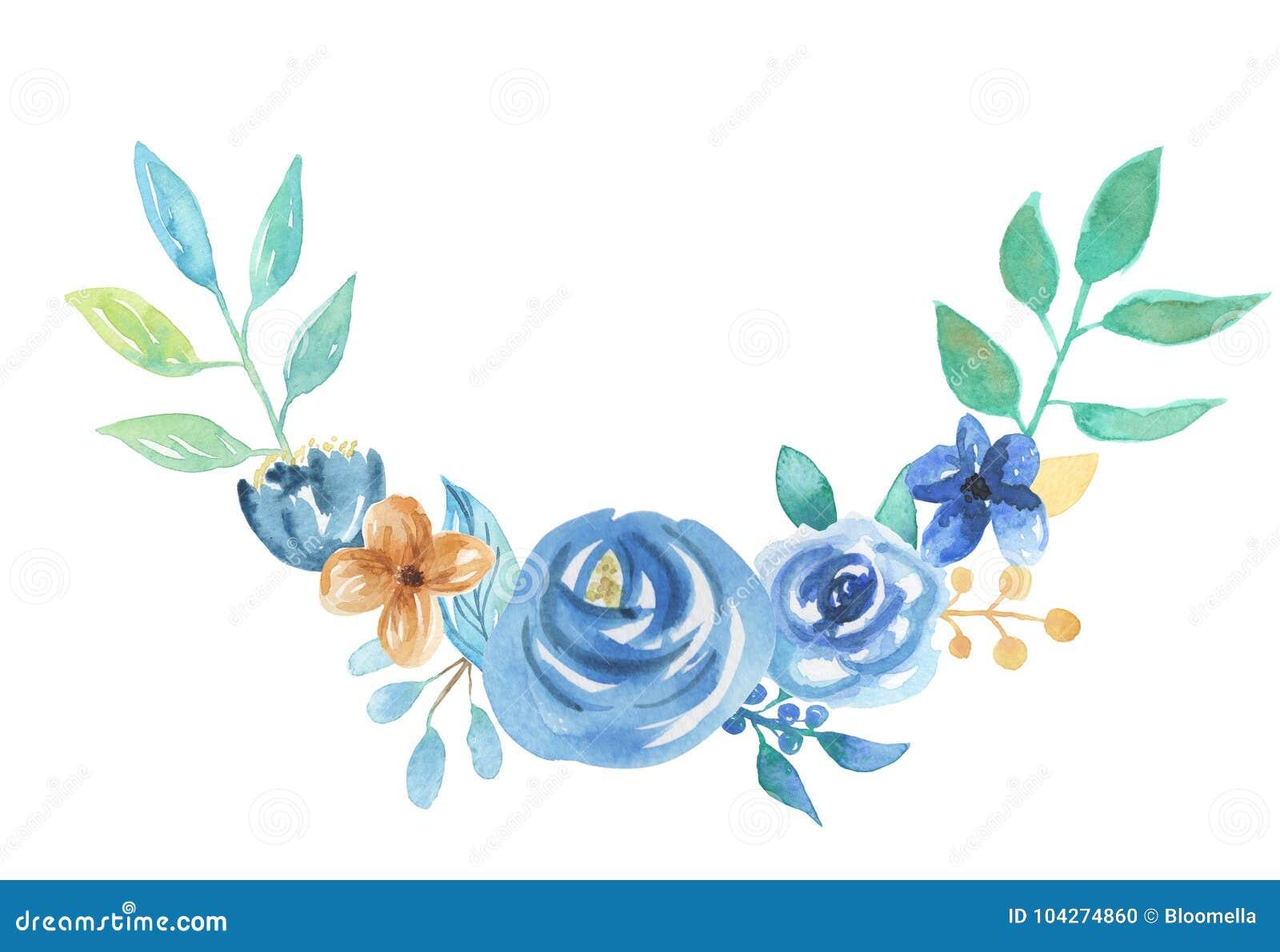 Flores Azules Florales De La Boda Del Arreglo Del Ramo De