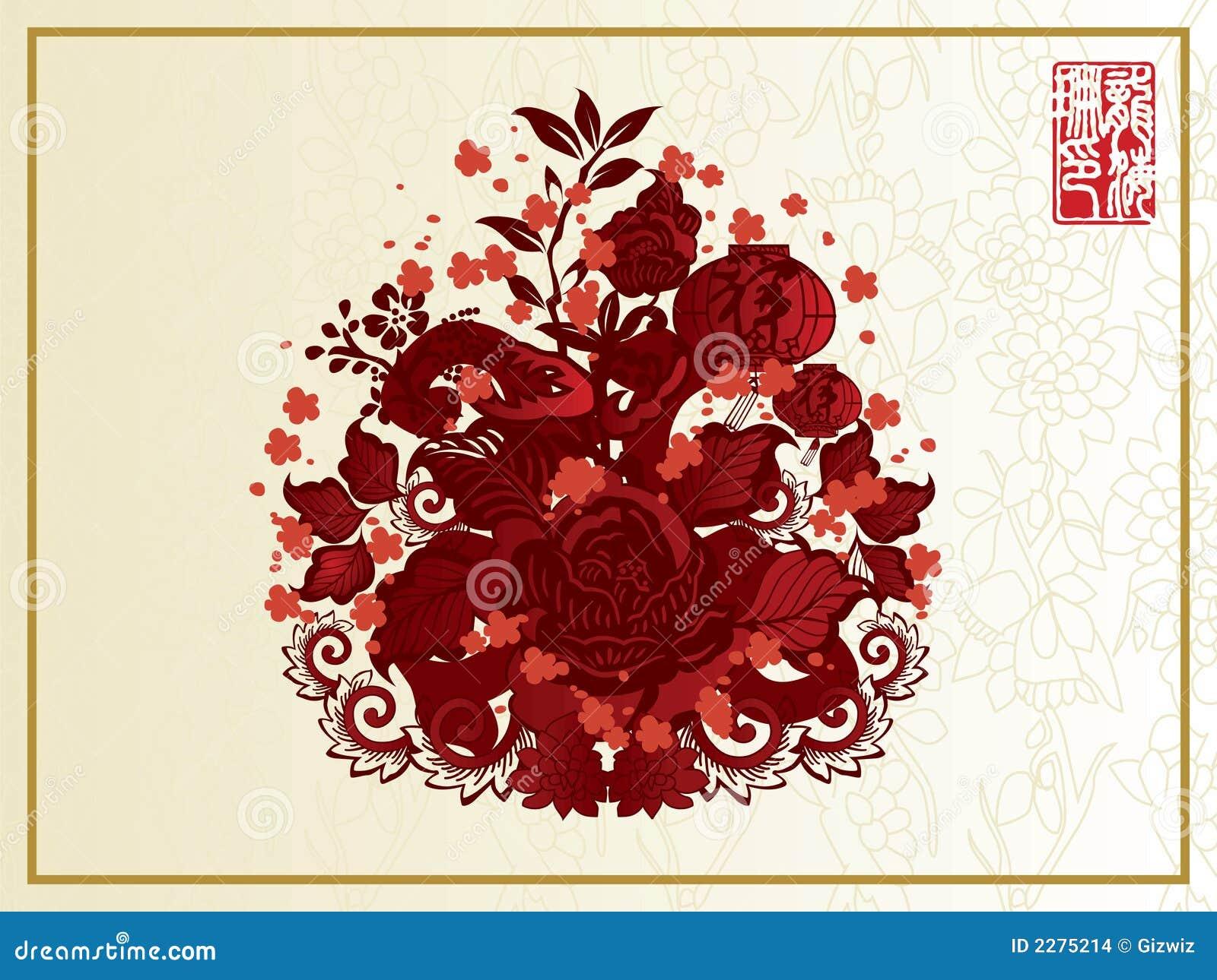 Flores chinas del escarlata imagenes de archivo imagen - Rosas chinas ...