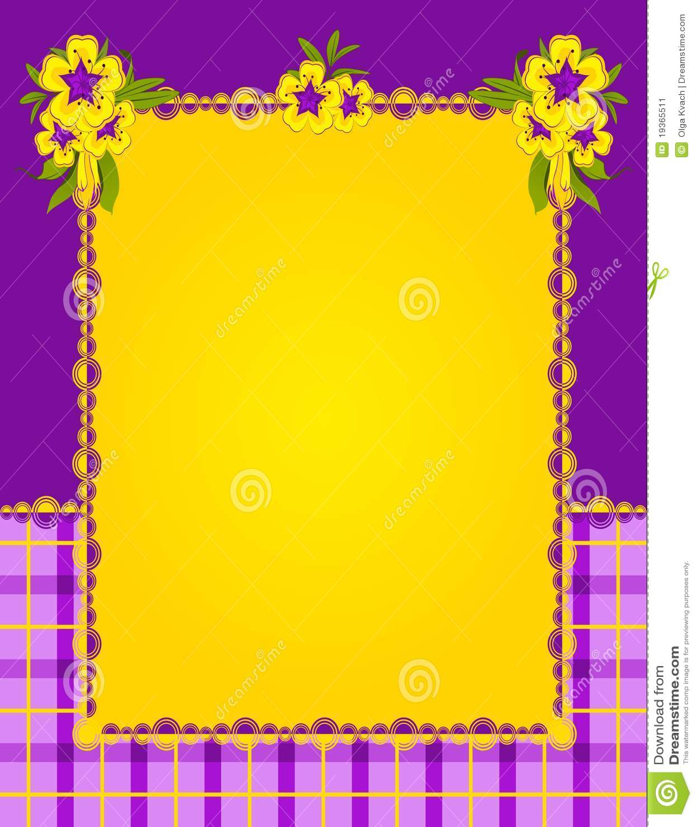 Flores com ornamento do laço