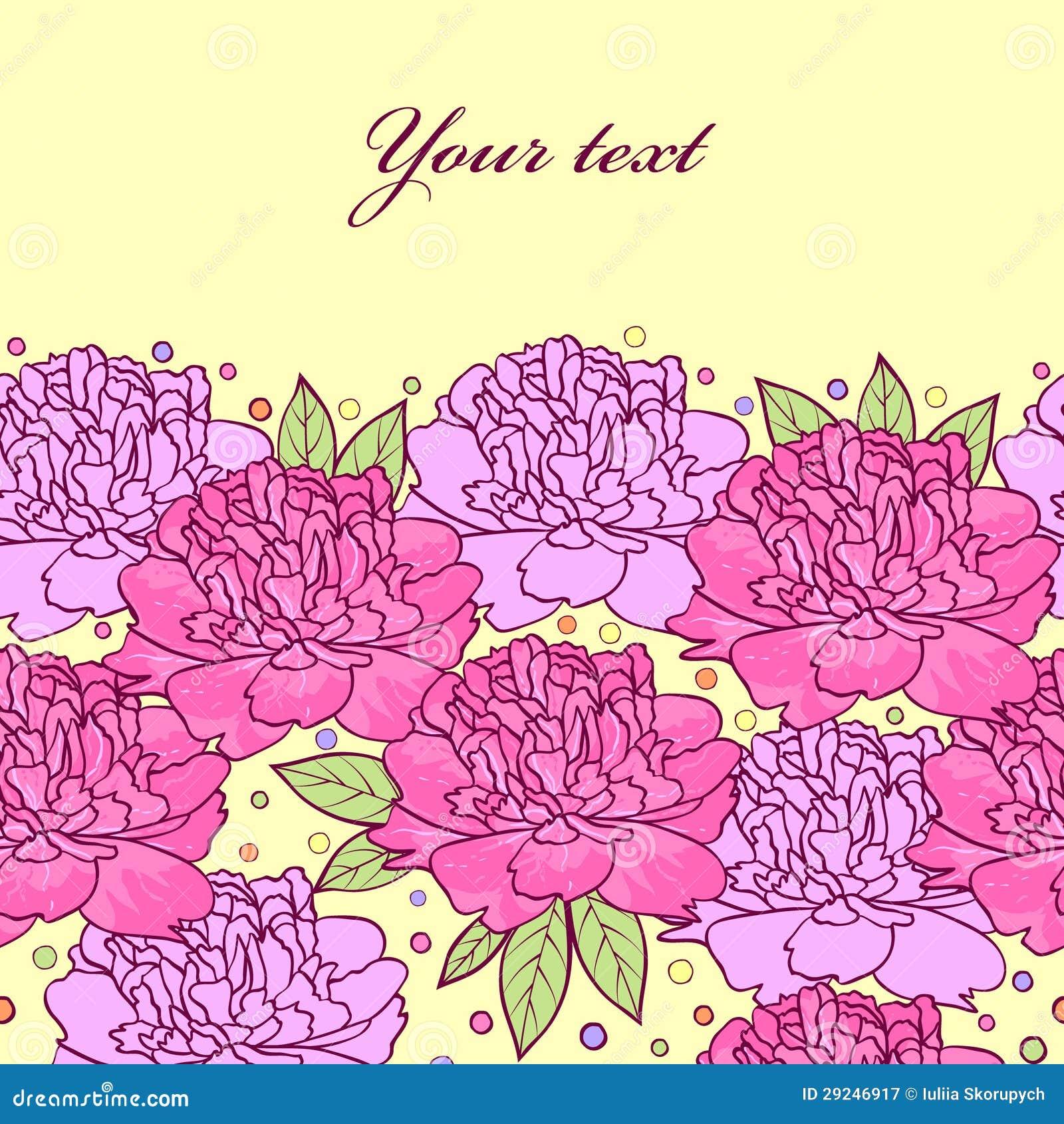 Download Flores das peônias ilustração do vetor. Ilustração de rosa - 29246917