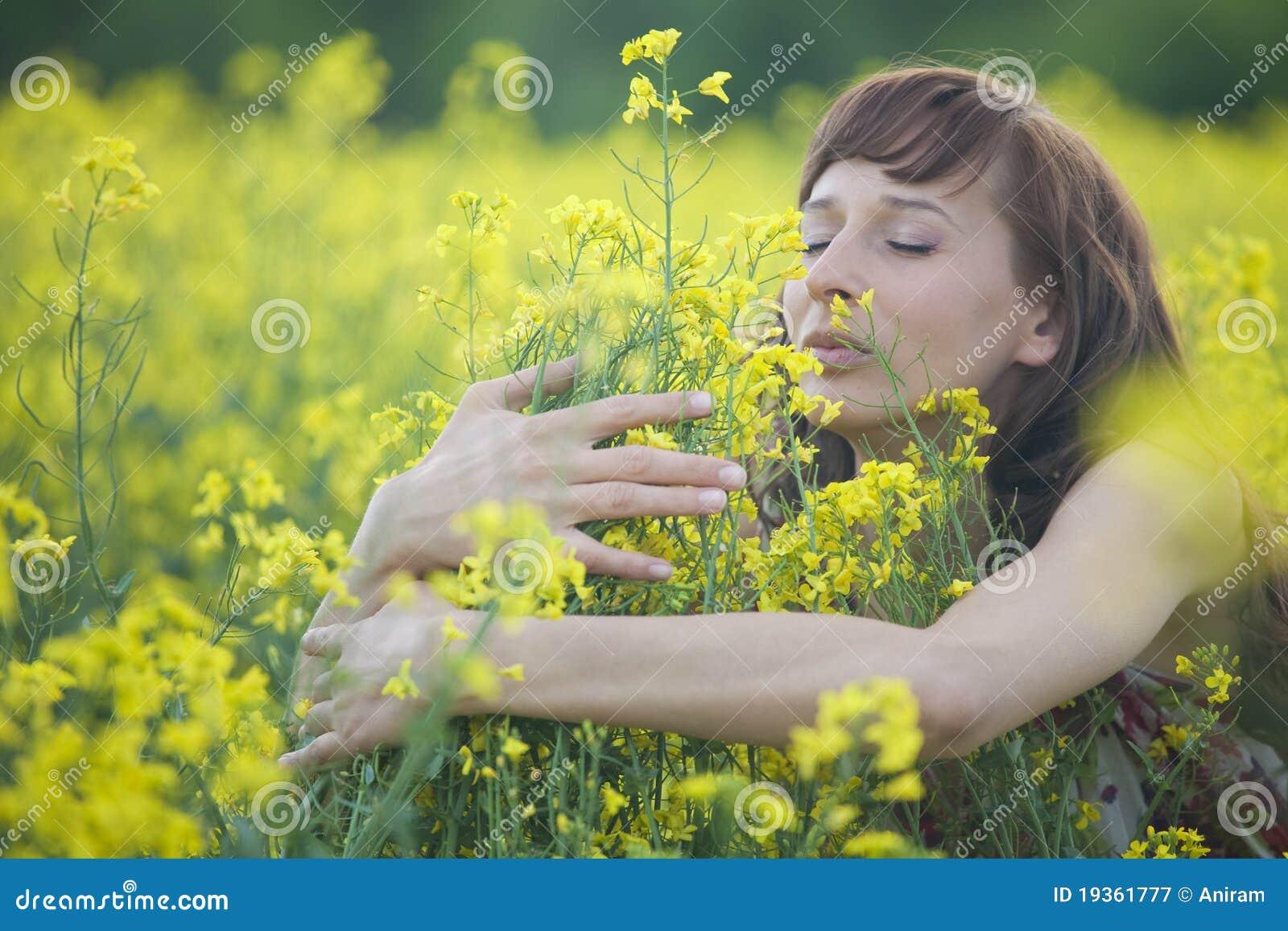 Flores de cheiro da mulher