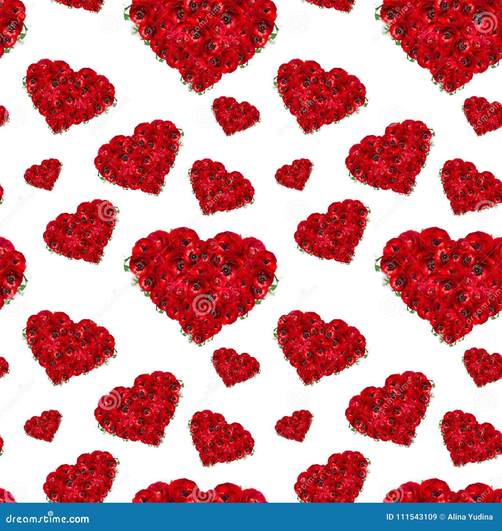 Flores De Color Rojo Oscuro De Lujo Como Modelo Inconsútil De Los