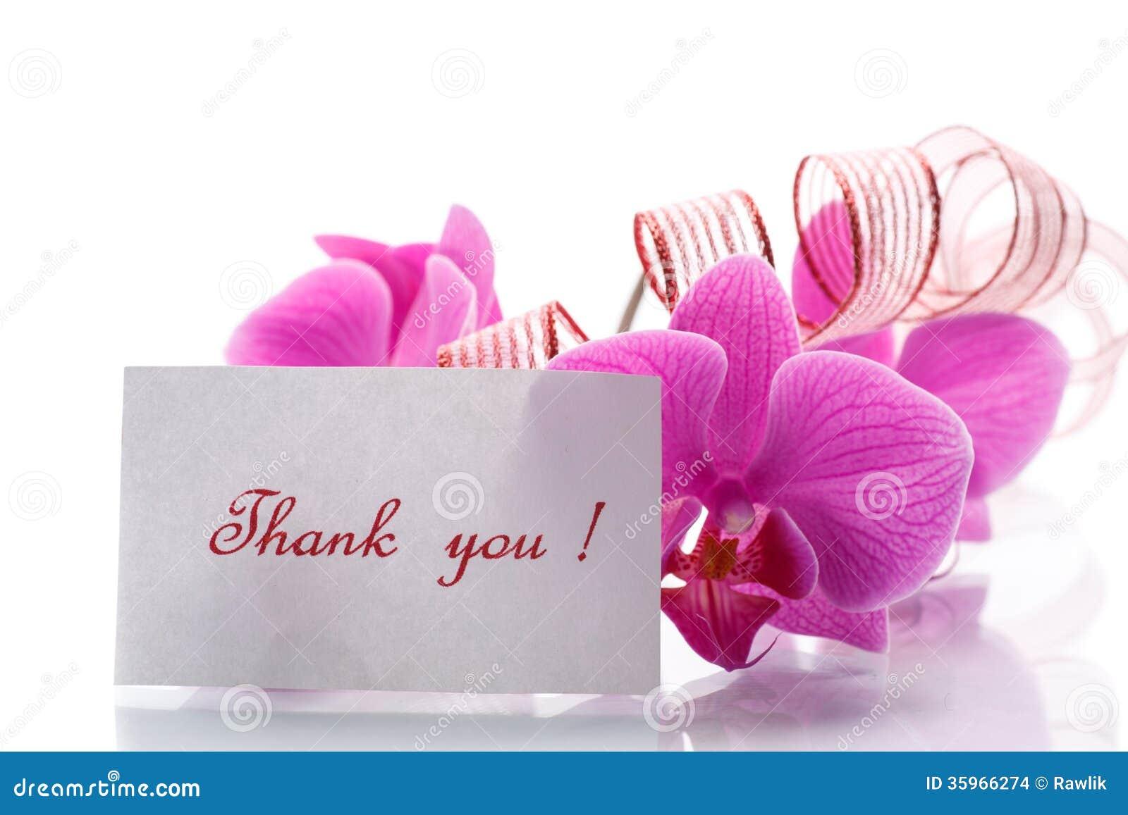 Flores de la orquídea con gratitud