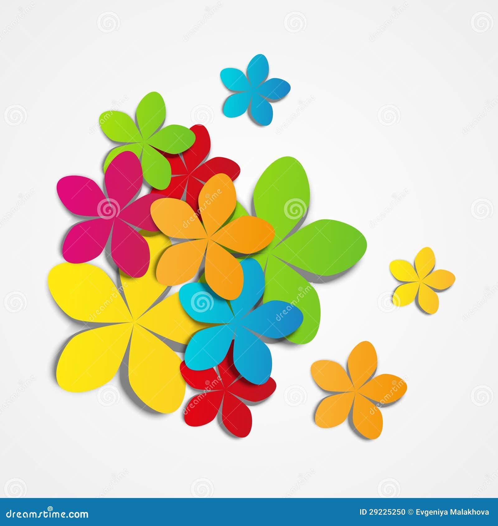 Download Flores de papel ilustração do vetor. Ilustração de azul - 29225250