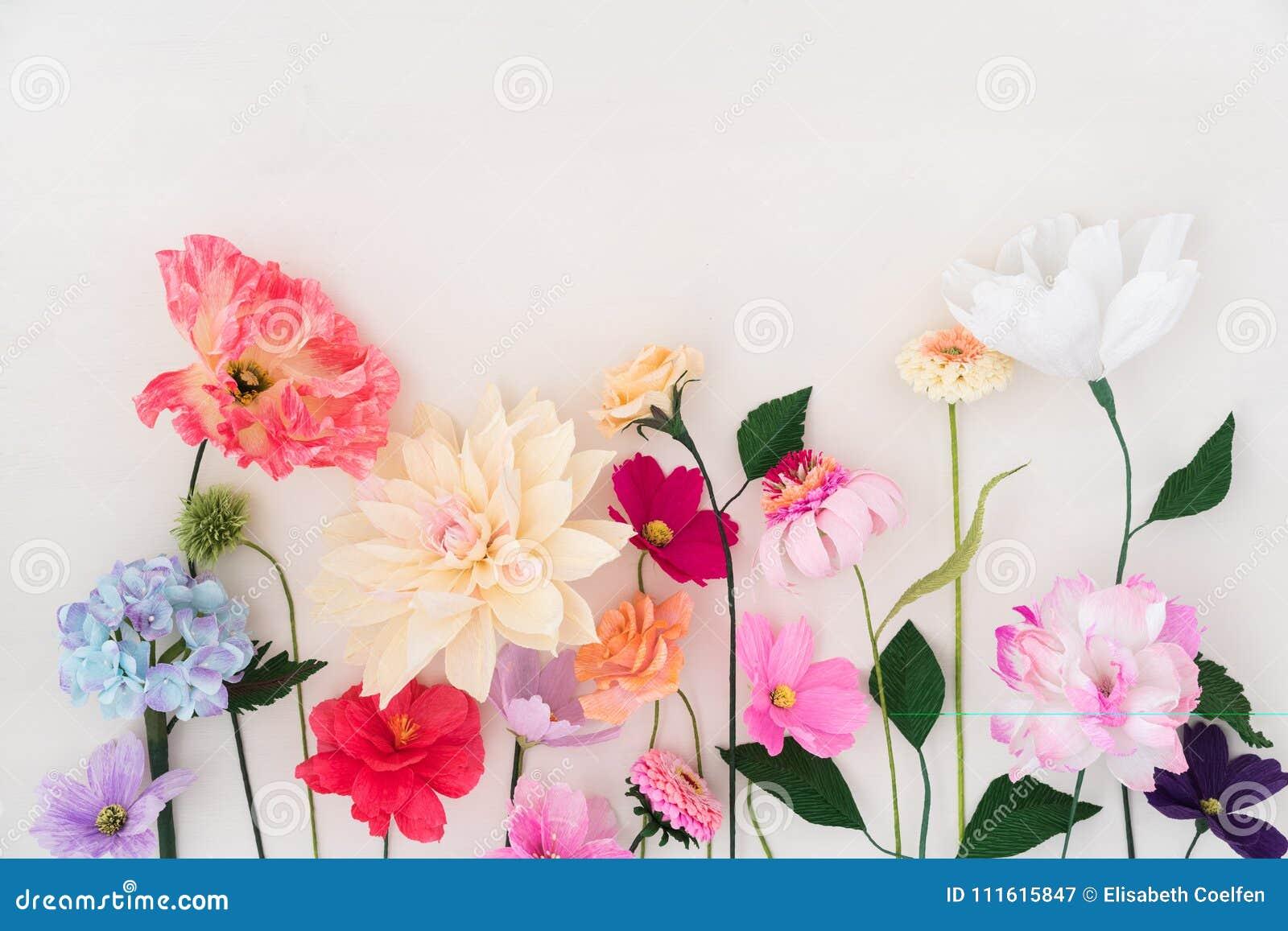 Flores De Papel Crepom Imagem De Stock Imagem De Hyacinth
