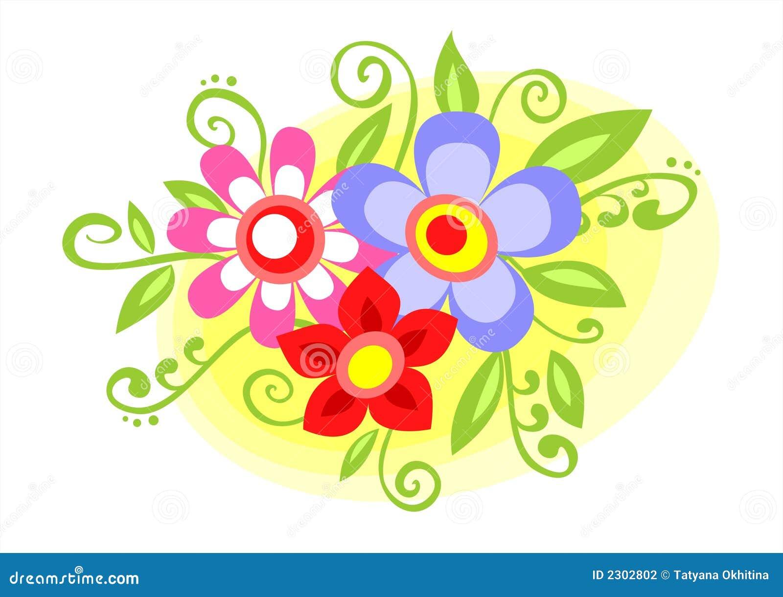 Flores decorativas ilustraci n del vector ilustraci n de - Fotos decorativas ...