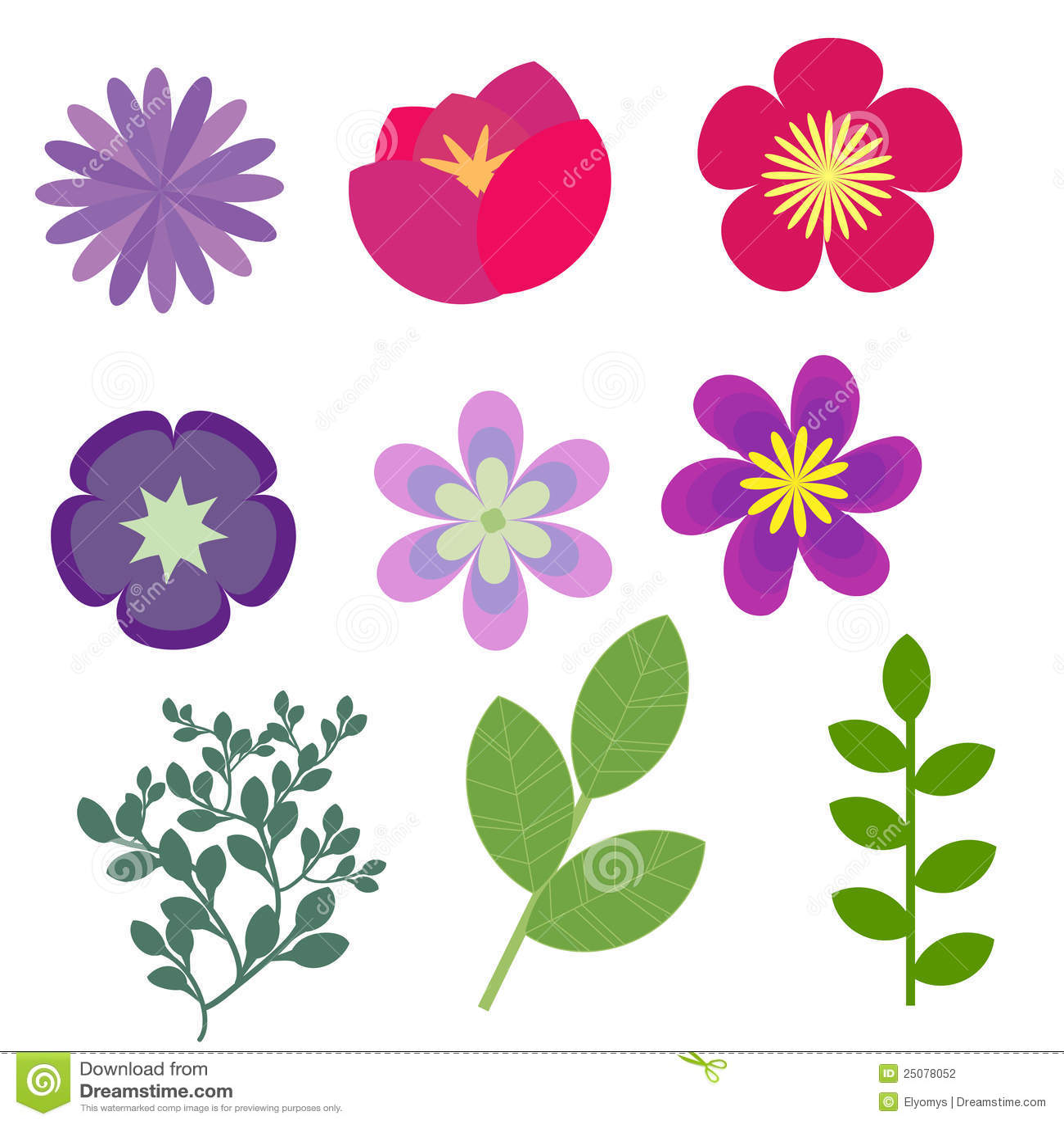 Flores decorativas fotograf a de archivo imagen 25078052 - Fotos decorativas ...