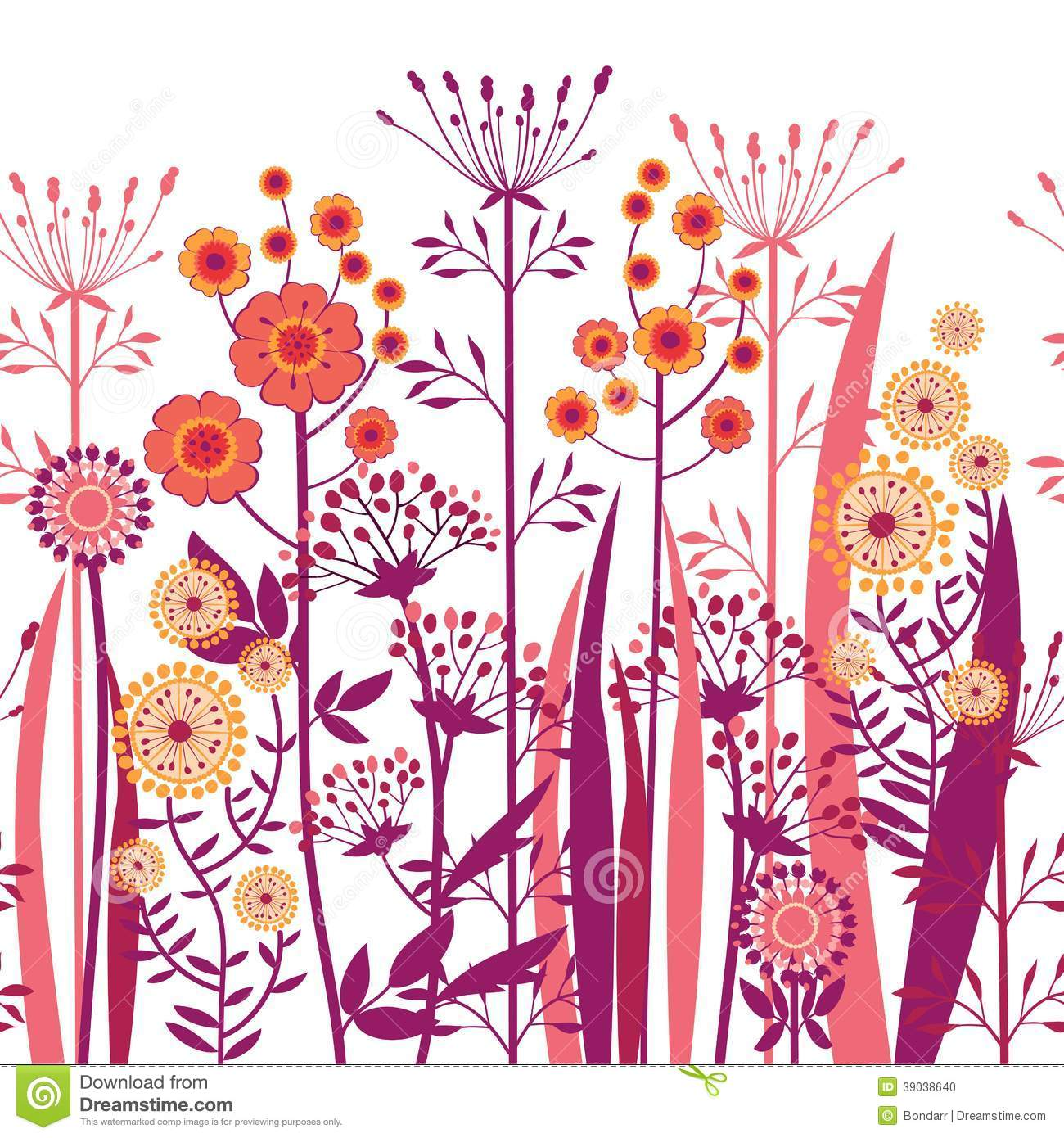 Flores decorativas del vector incons tiles ilustraci n del for 5 plantas decorativas
