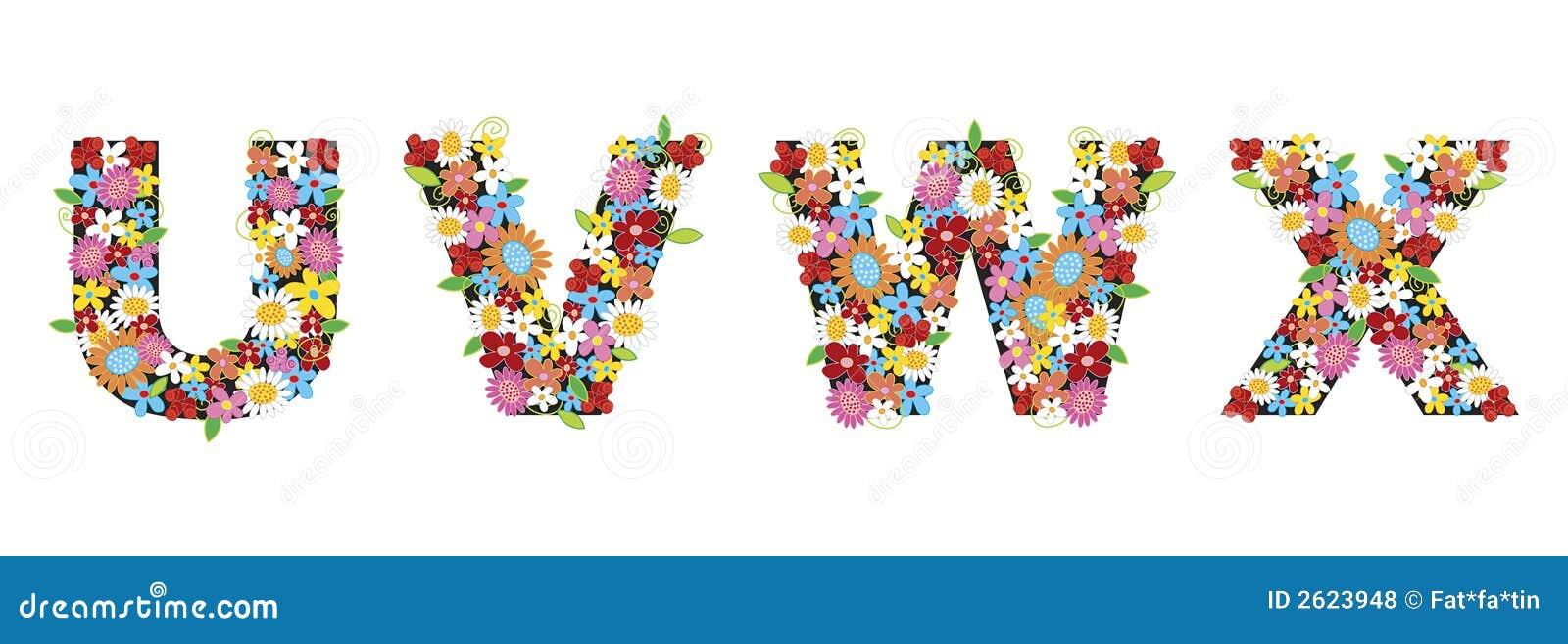 Flores del resorte de UVWX