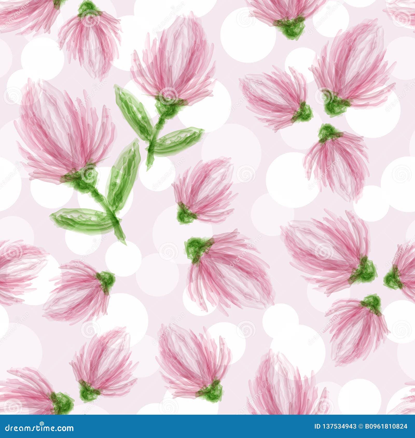Flores Delicadas Em Um Fundo Claro Teste Padrao Sem Emenda