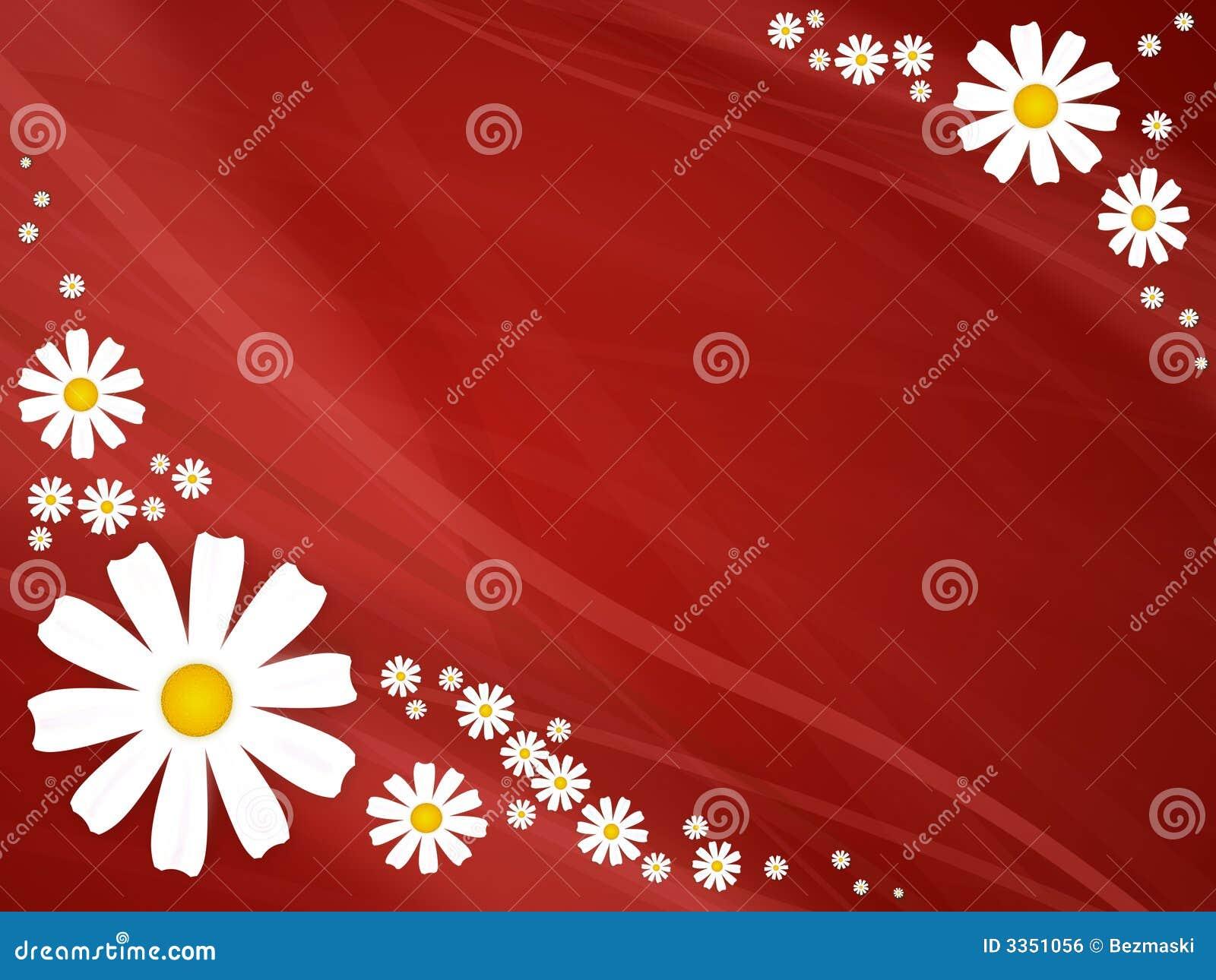 Flores do verão no vermelho