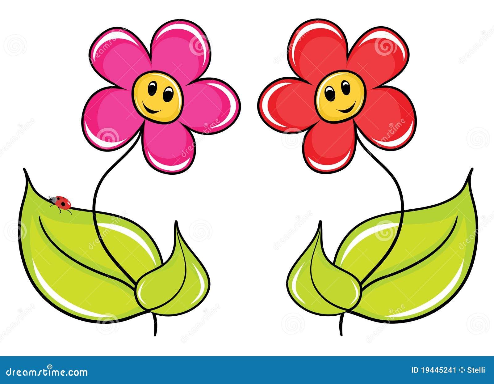 Flores Dos Desenhos Animados Ilustracao Do Vetor Ilustracao De
