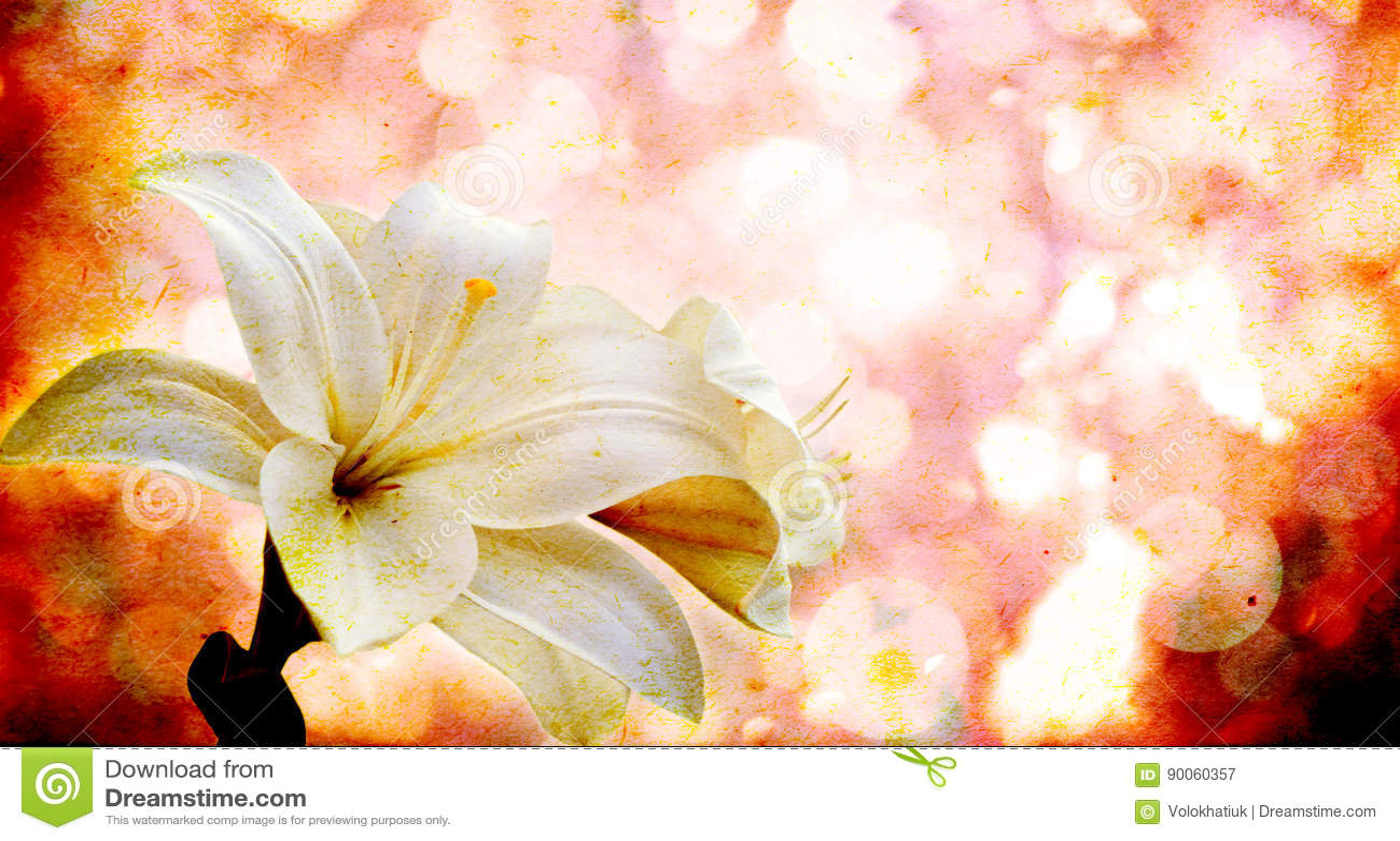 Flores em um fundo do vintage