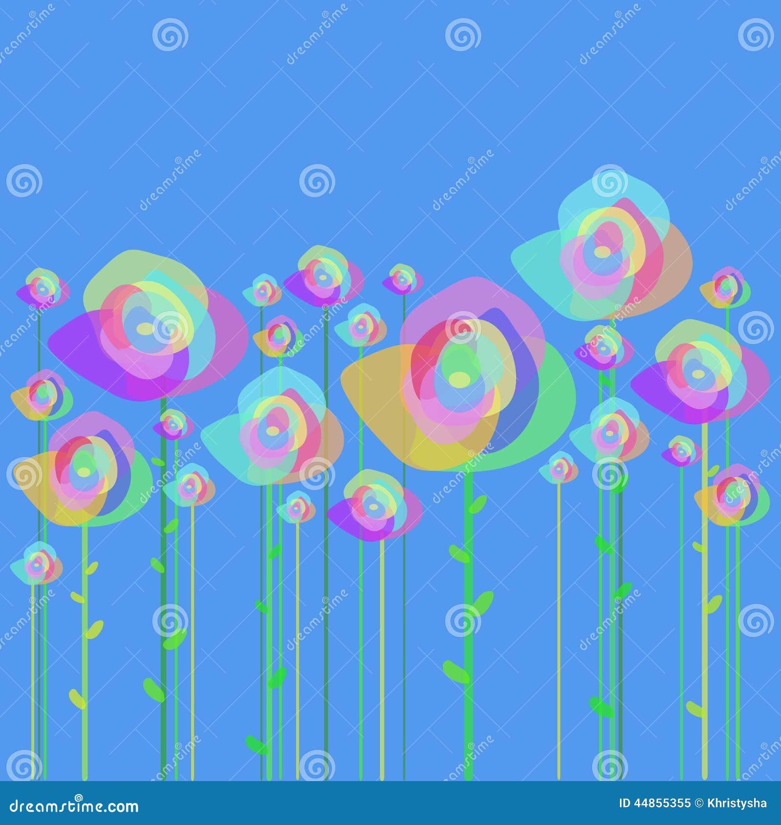 Flores en un fondo