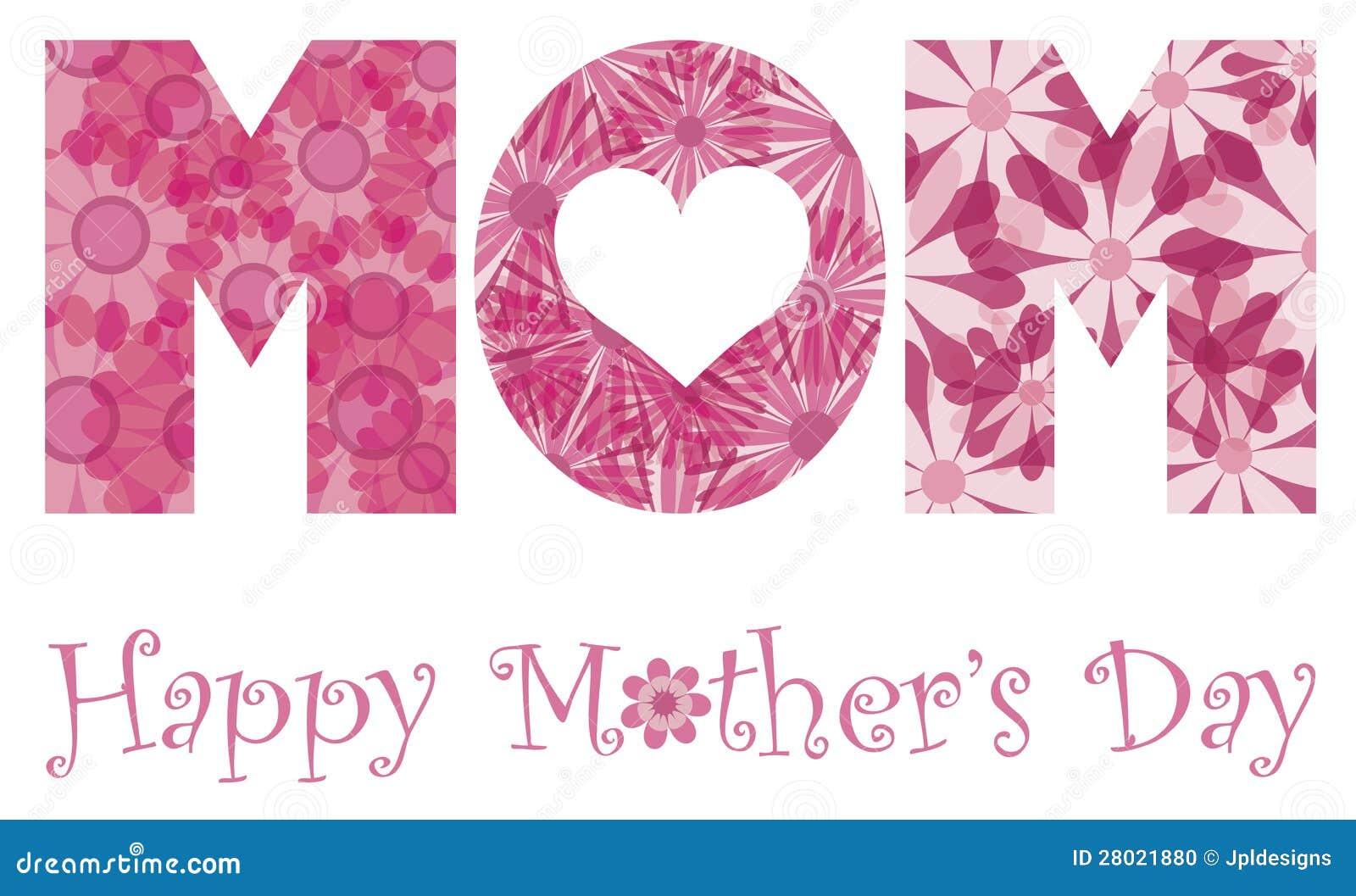 Flores felizes do alfabeto da mamã do dia de matrizes