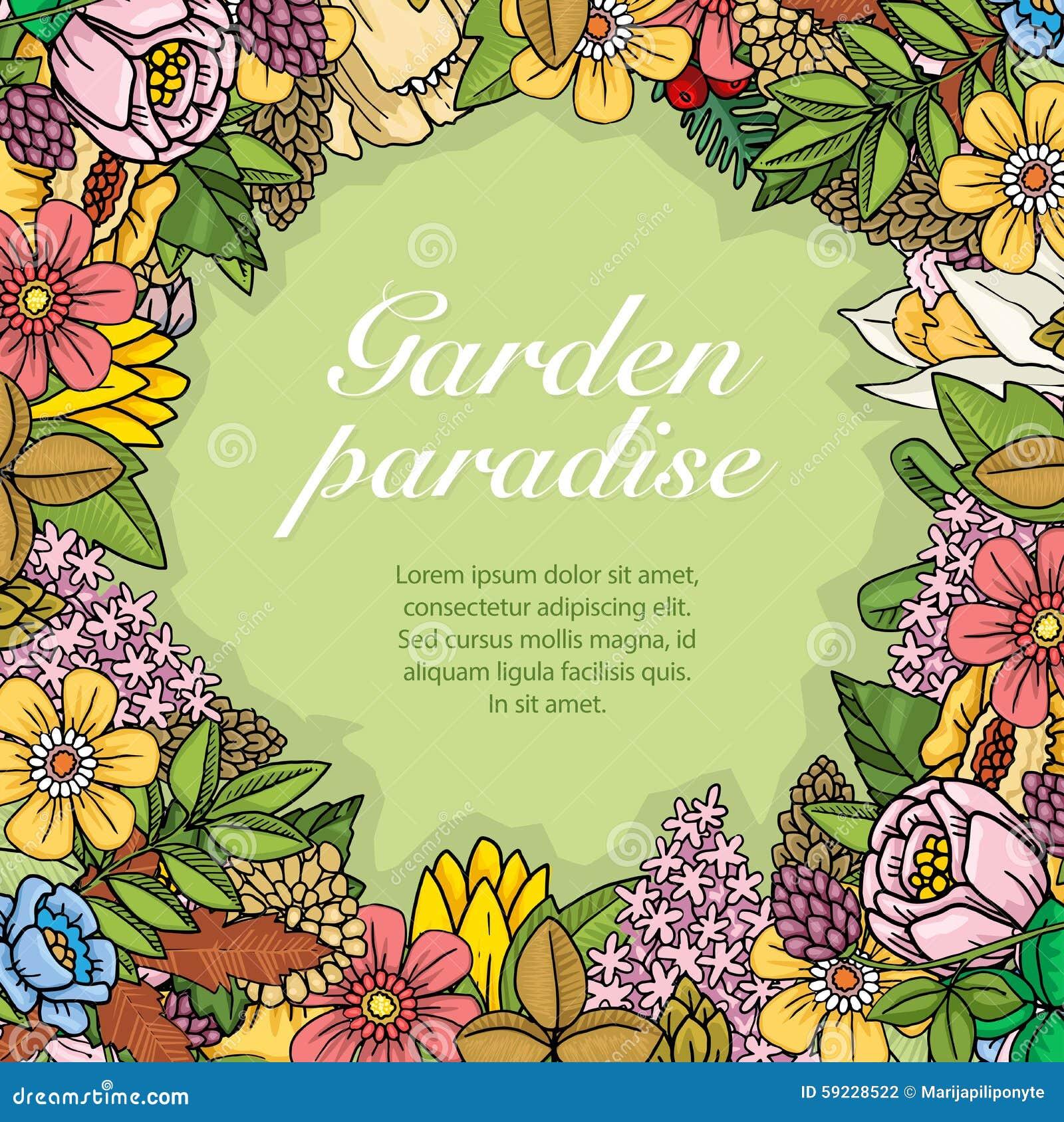 Download Flores, Hojas Y Plantas Al Azar Coloridas Ilustración del Vector - Ilustración de casero, icono: 59228522