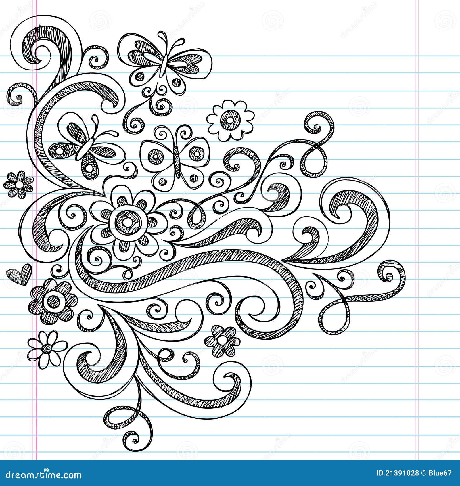 Flores incompletas de nuevo a Doodles de la escuela