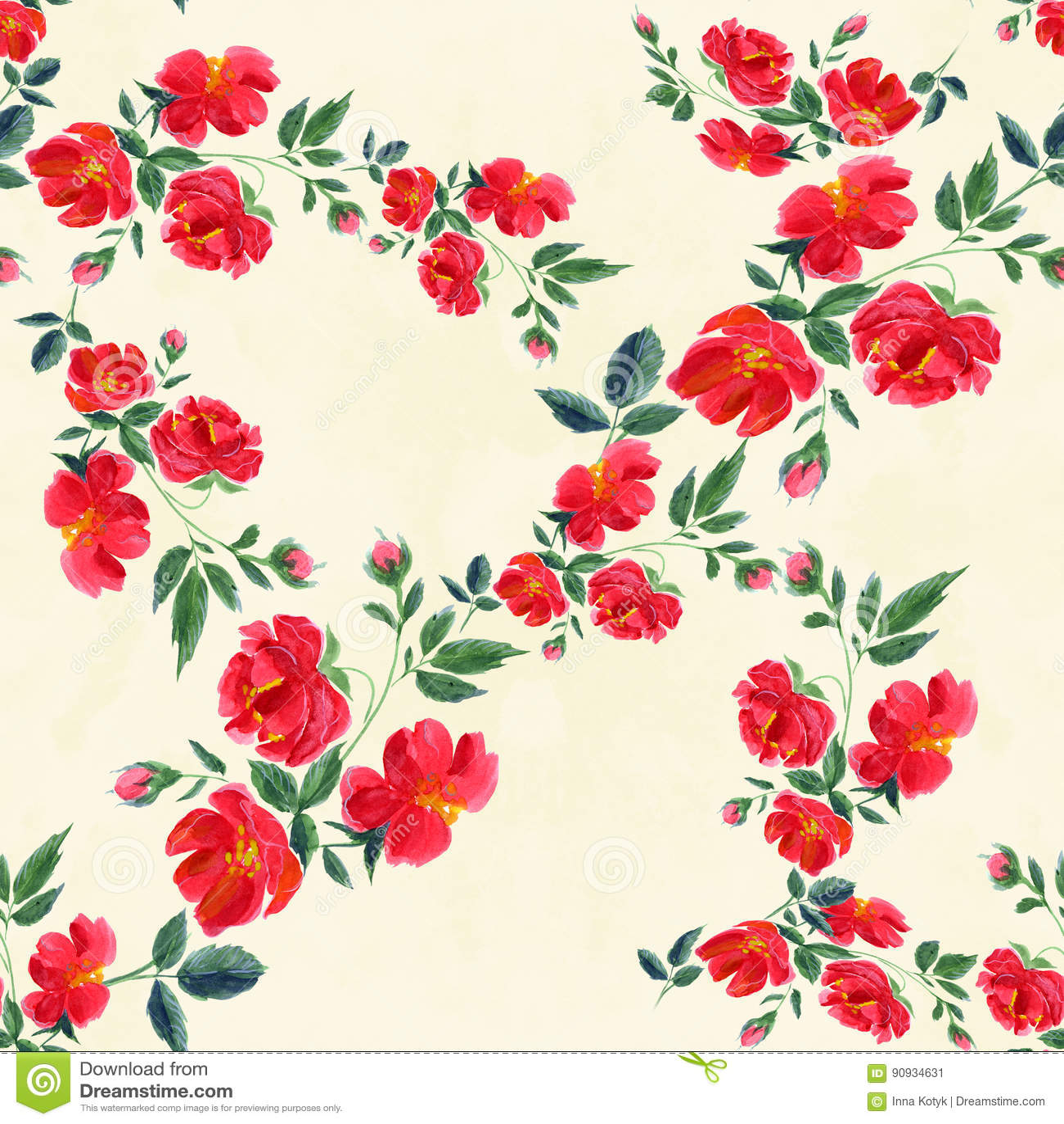 Flores Papel Pintado Abstracto Con Adornos Florales Golpeteo - Adornos-florales