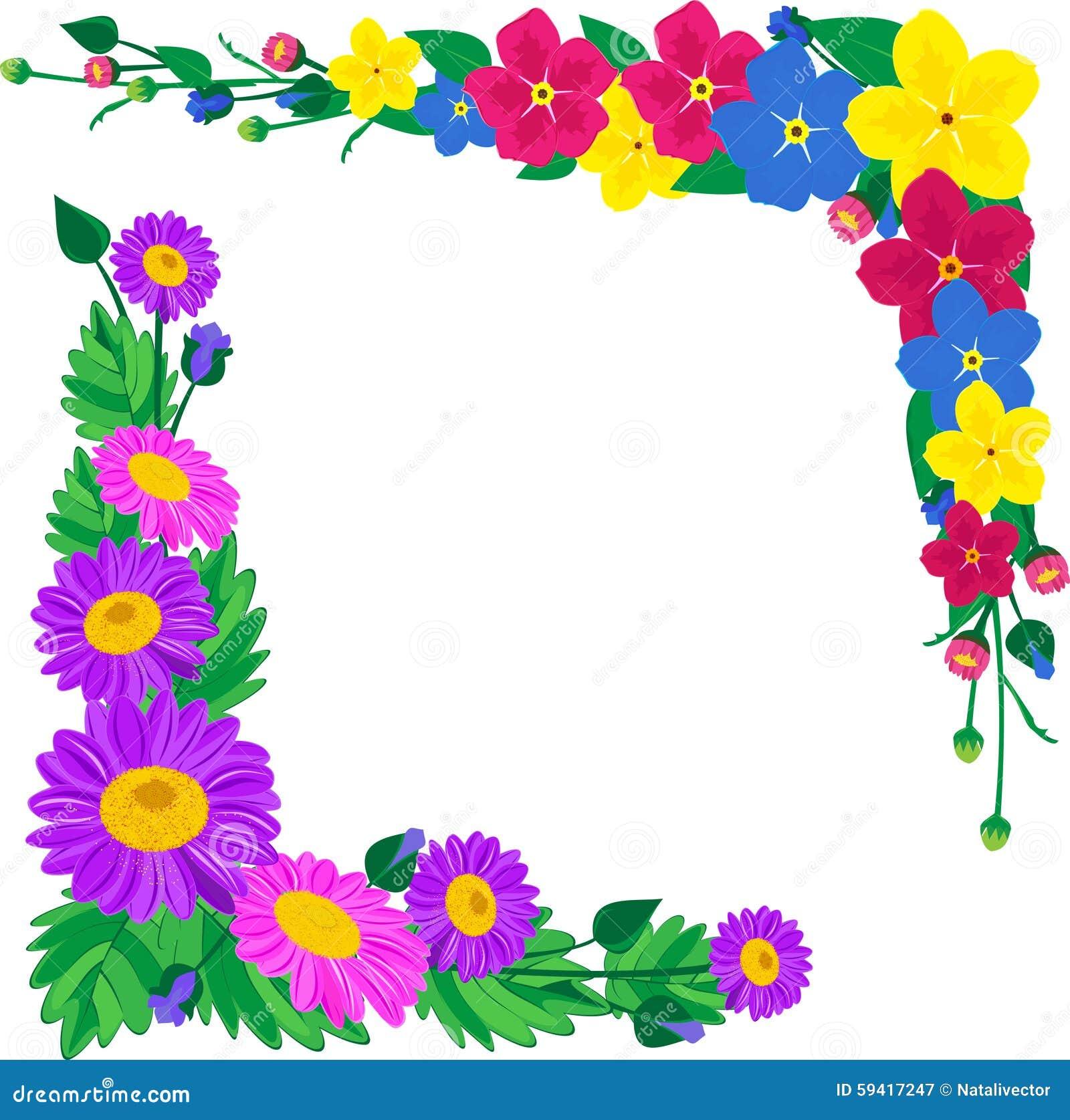 Flores para los marcos de la decoraci n ilustraci n del - Decoracion de marcos para fotos ...
