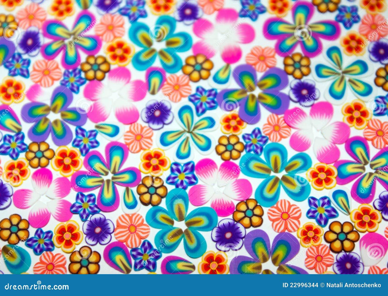 Flores Pequenas Coloridas Fundo Ilustração Stock
