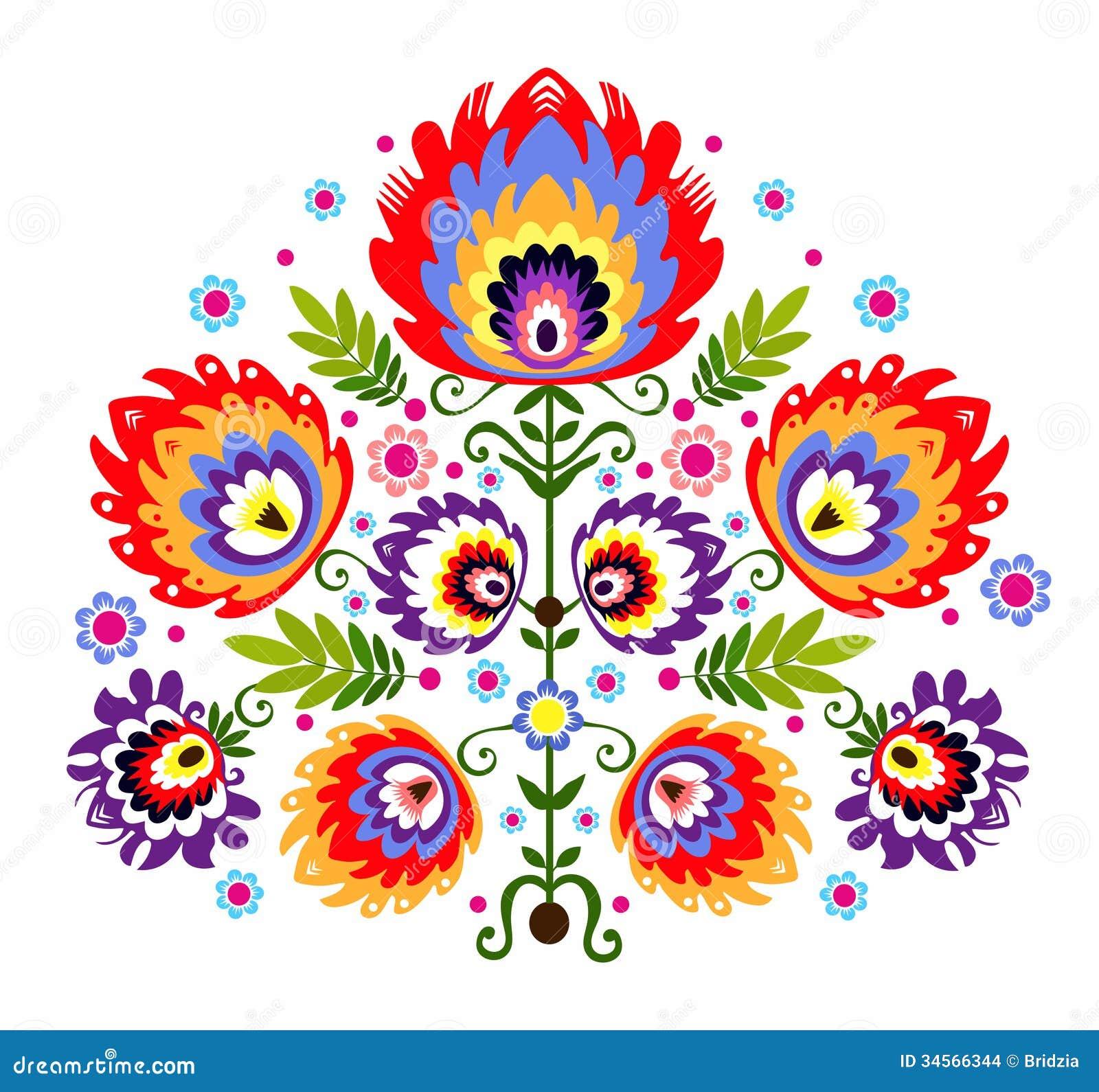 Flores populares del bordado