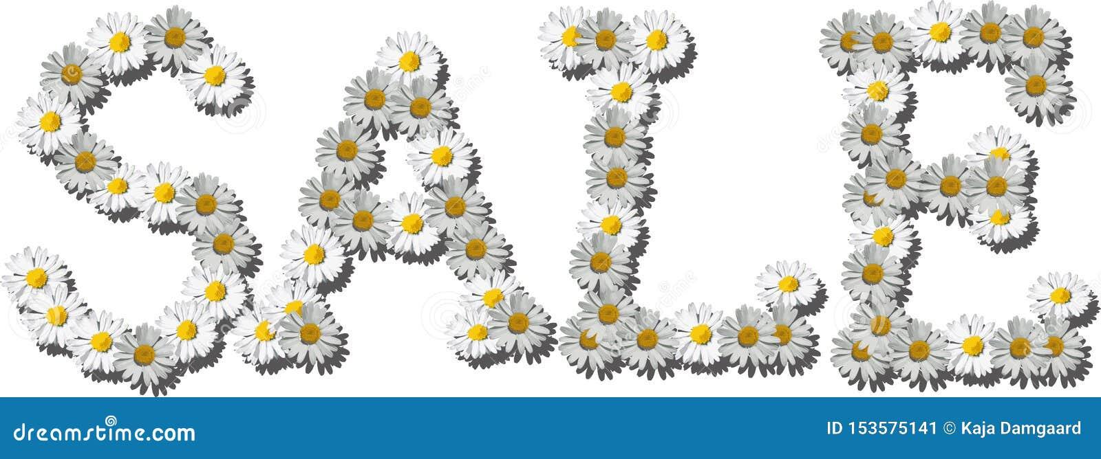 Flores que hacen la venta de la palabra