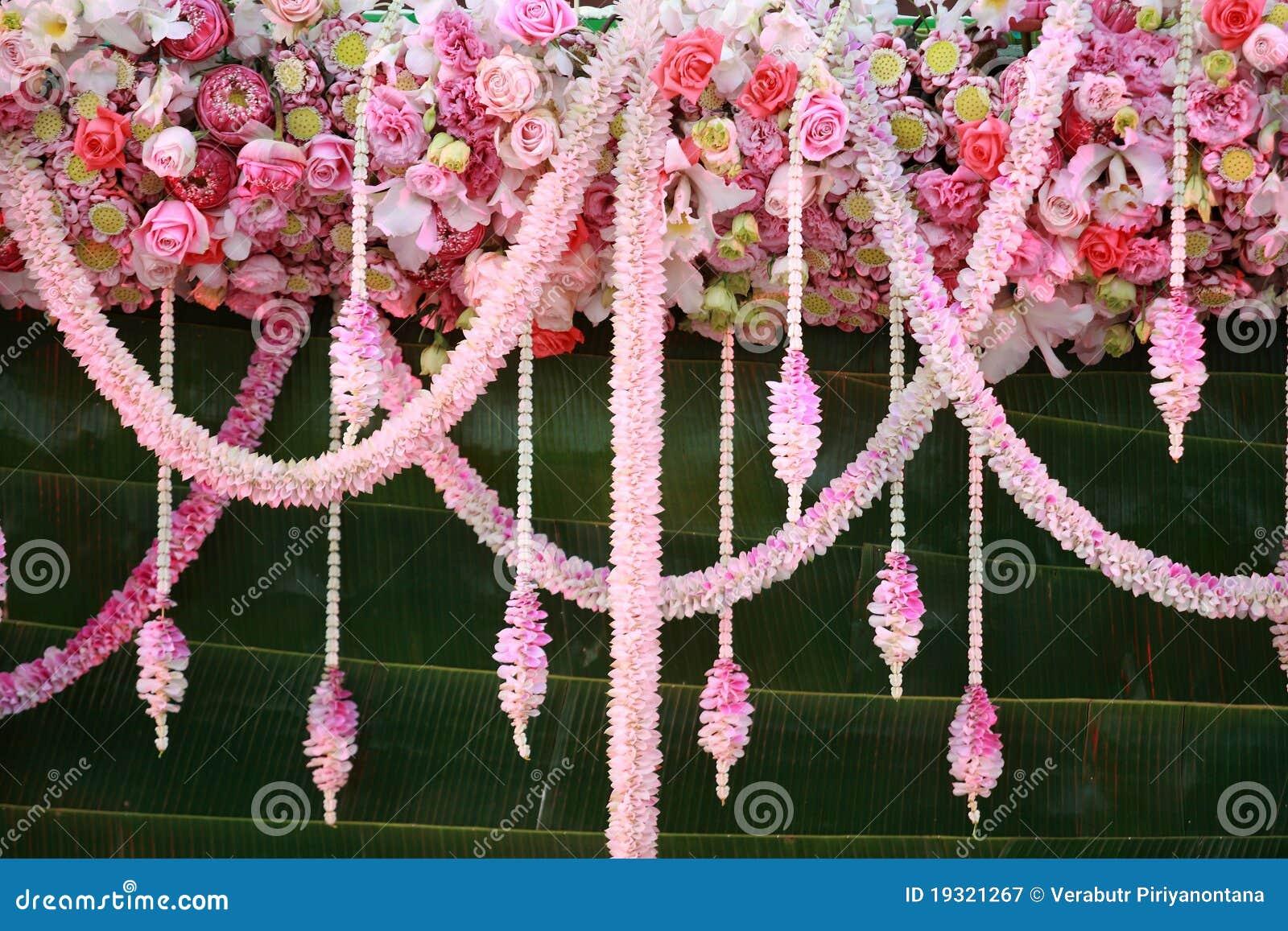 Flores que wedding a decoração