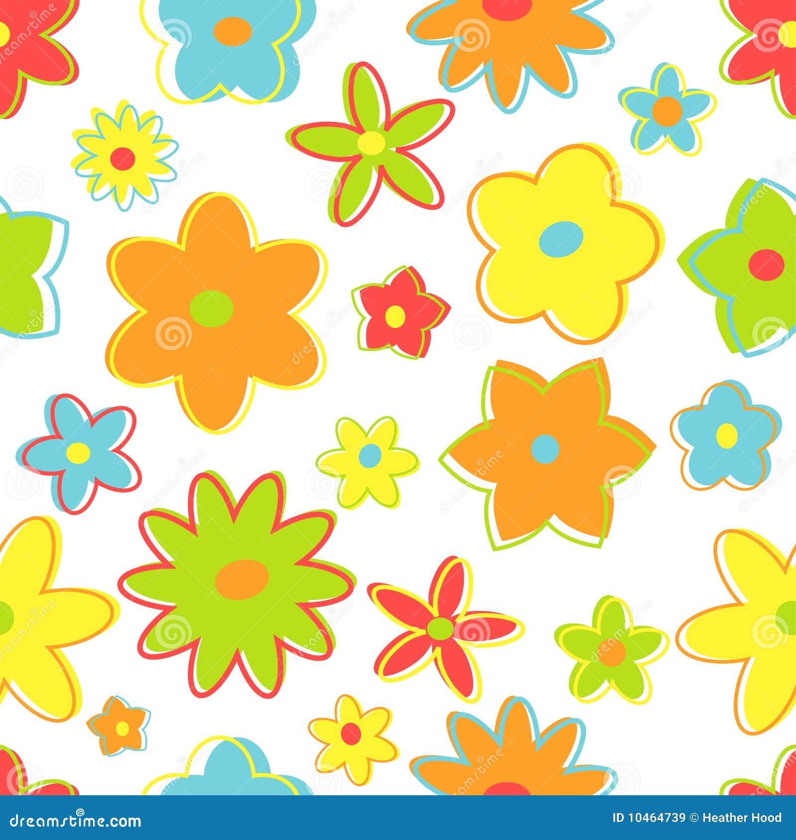 Flores retros sem emenda