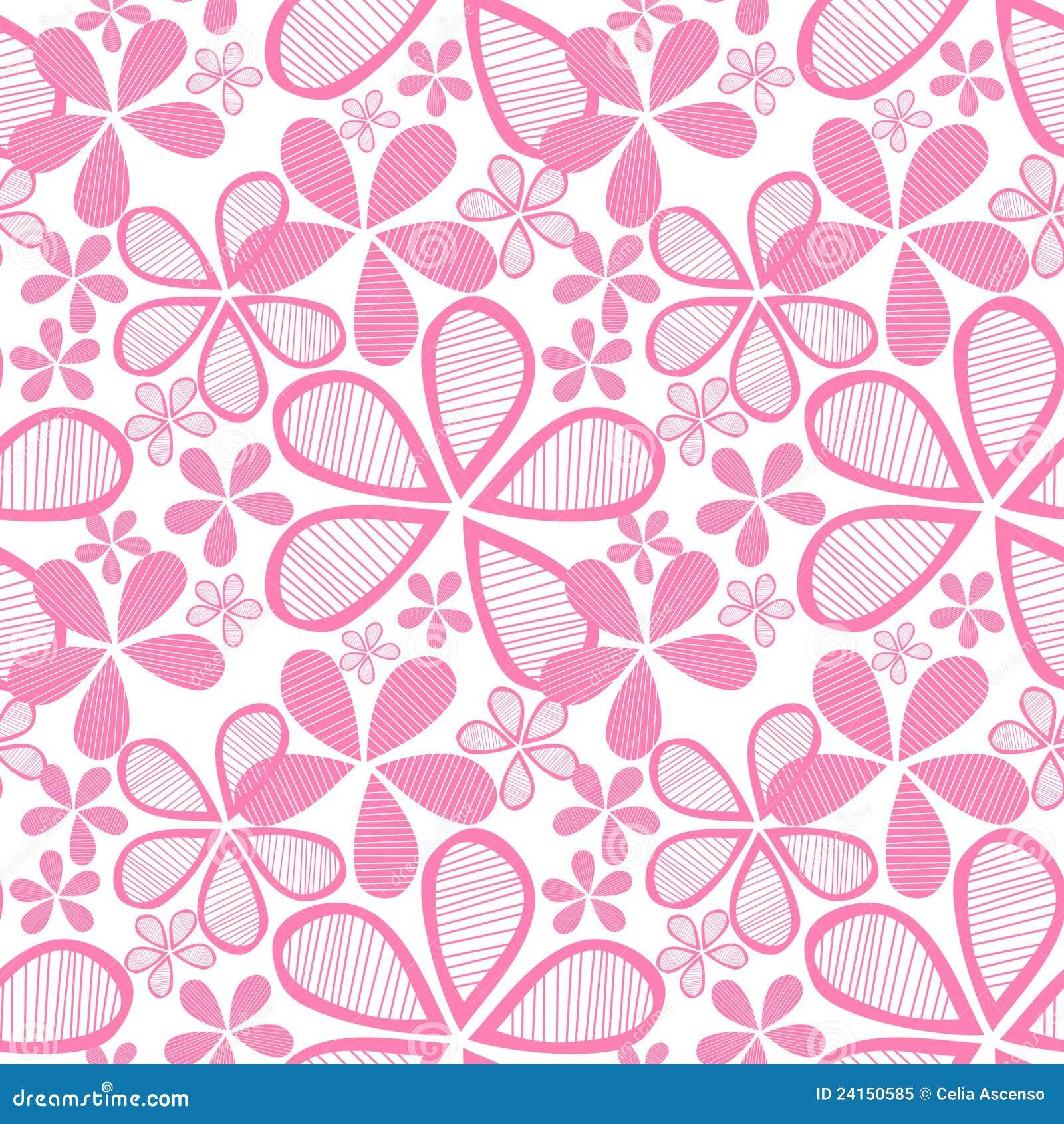 flores rosadas inconsútiles stock de ilustración ilustración de