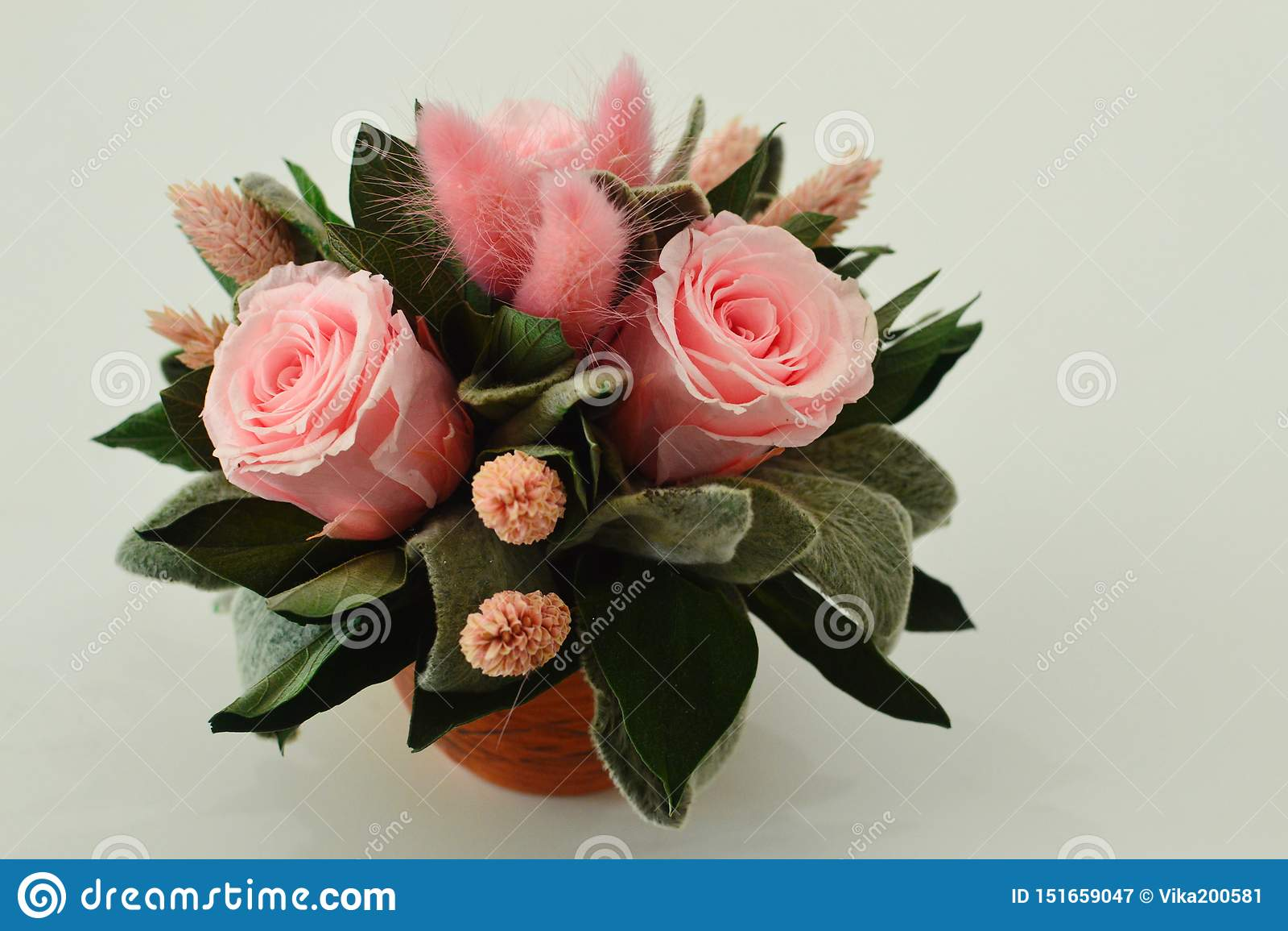 Flores secadas para una decoración interior