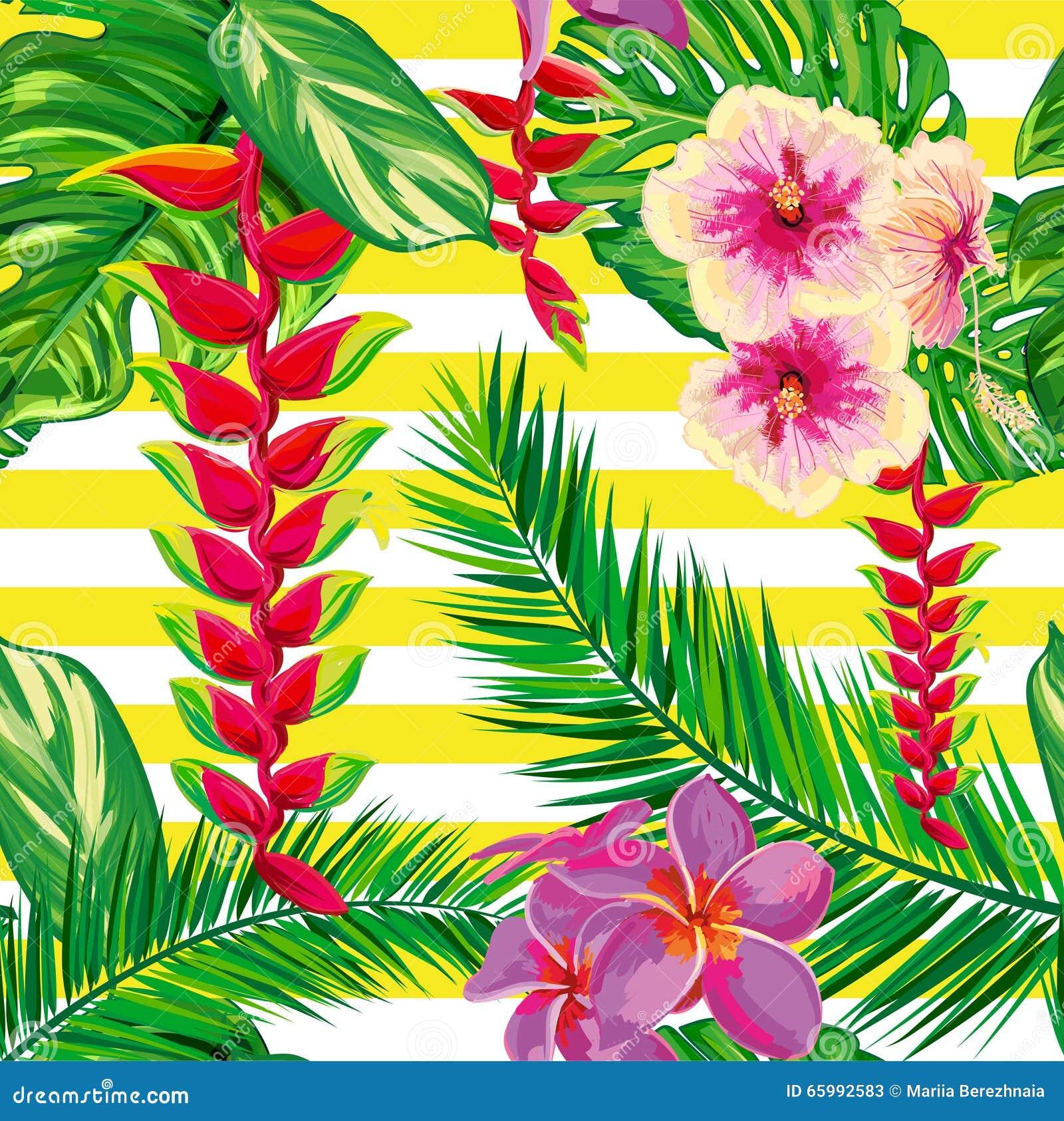 Excelente Diseño De Uñas De Flores De Hibisco Patrón - Ideas Para ...