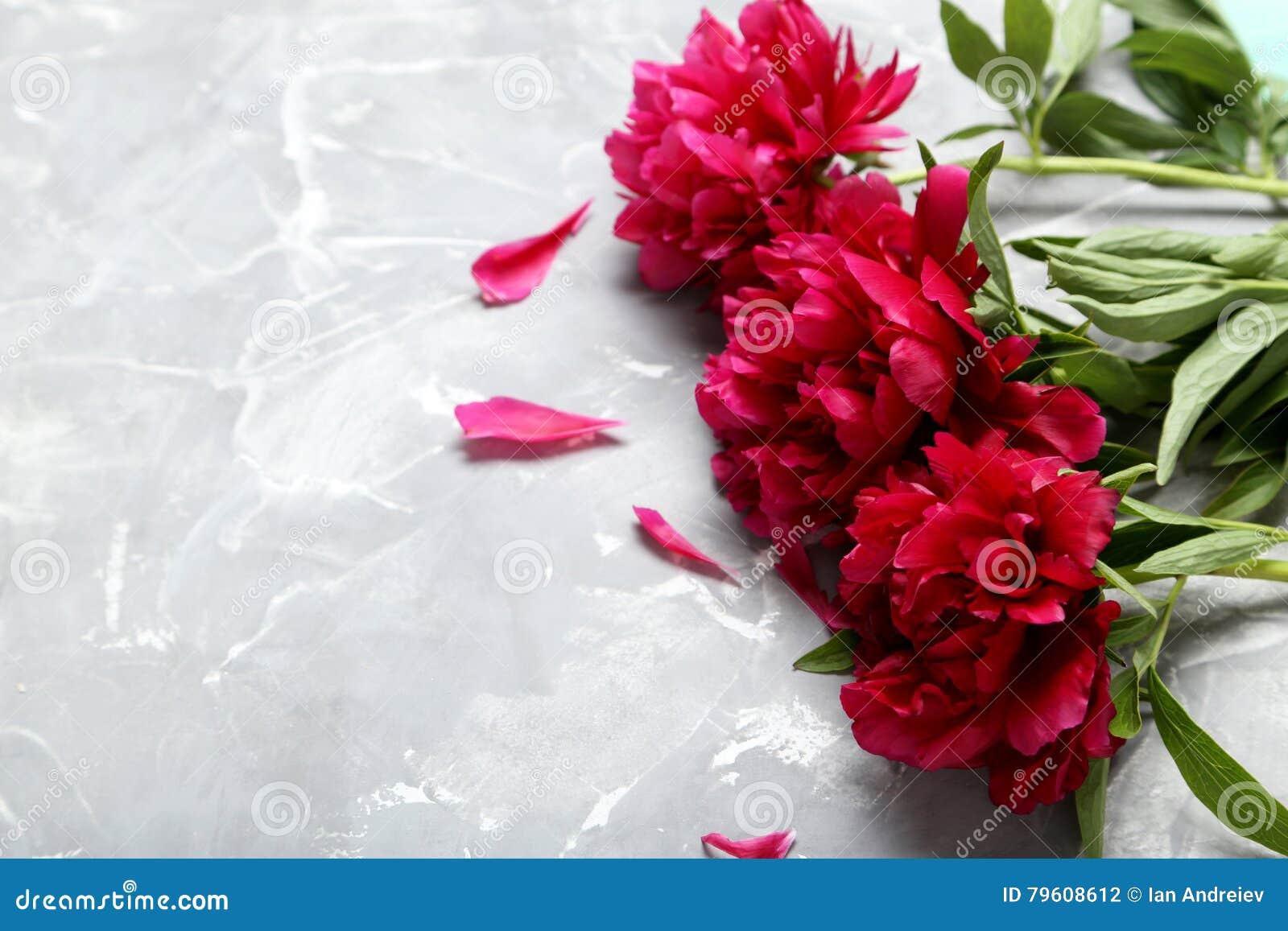 Flores vermelhas do peony