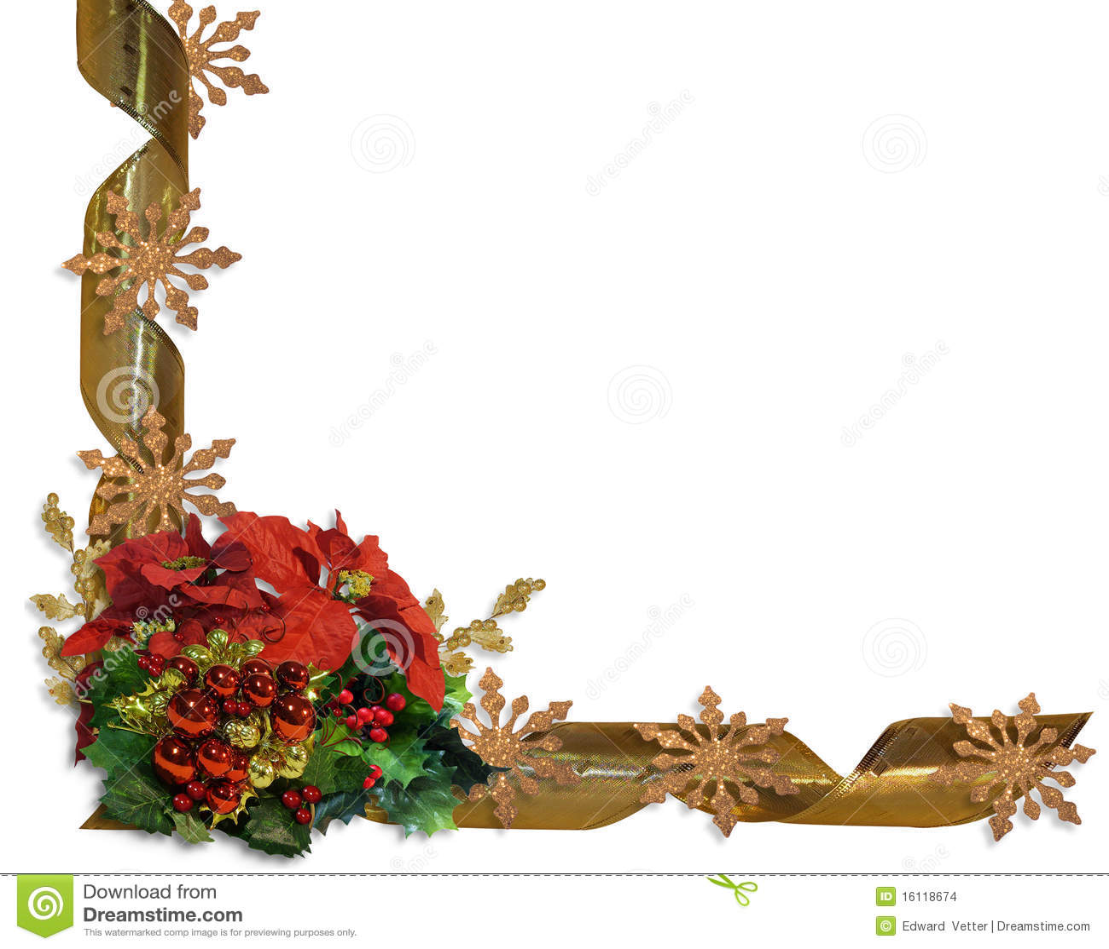 Flores y cinta de la frontera de la navidad imagenes de - Imagenes flores de navidad ...