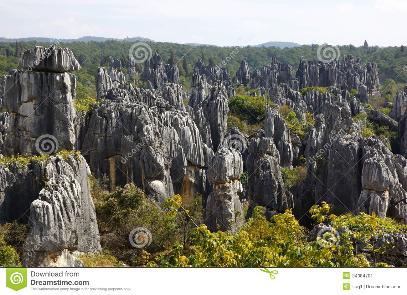 Floresta da pedra de Shilin em Kunming, Yunnan, China