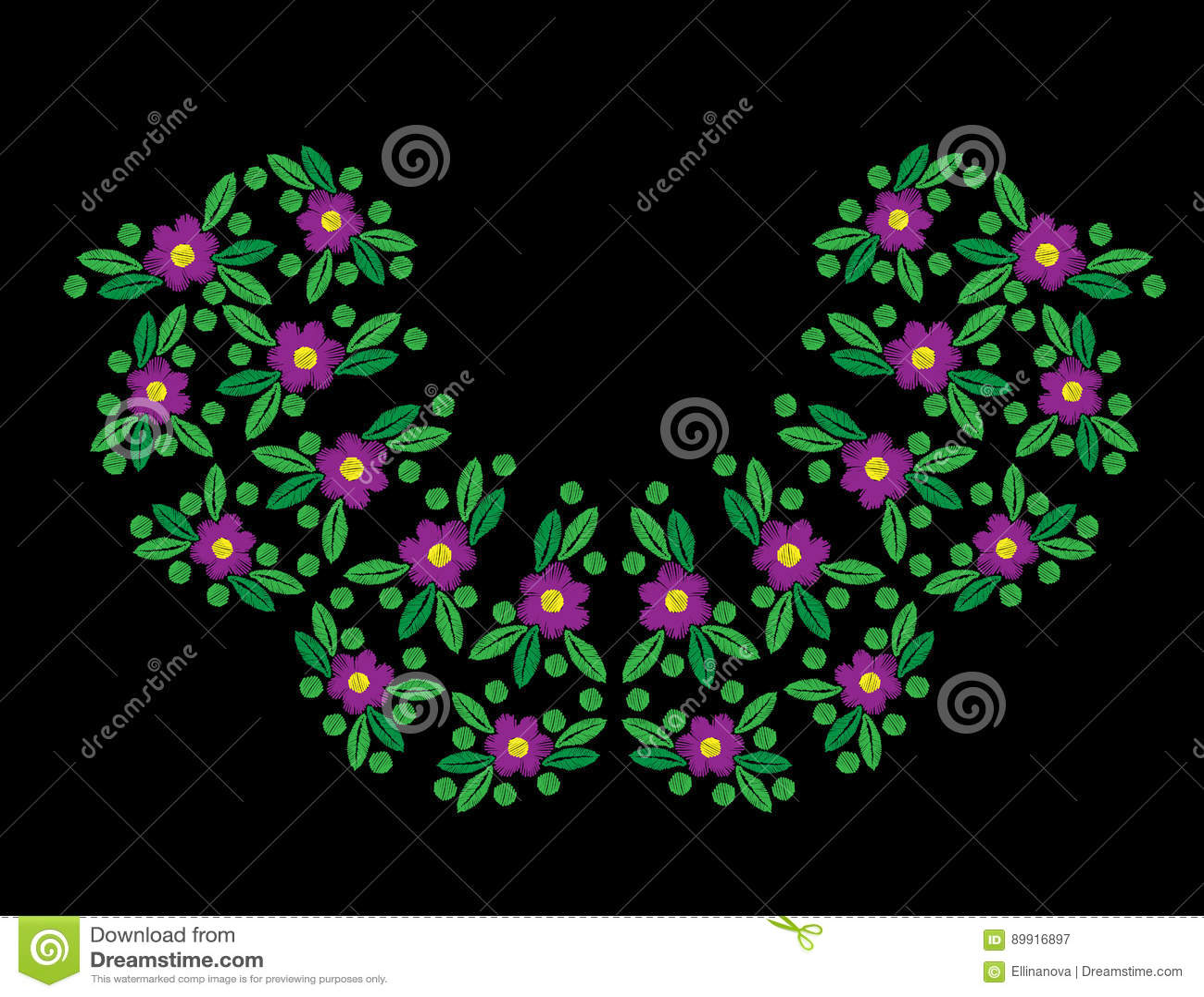 Florezca con las puntadas de la hoja y del bordado del punto de imitación en el bl