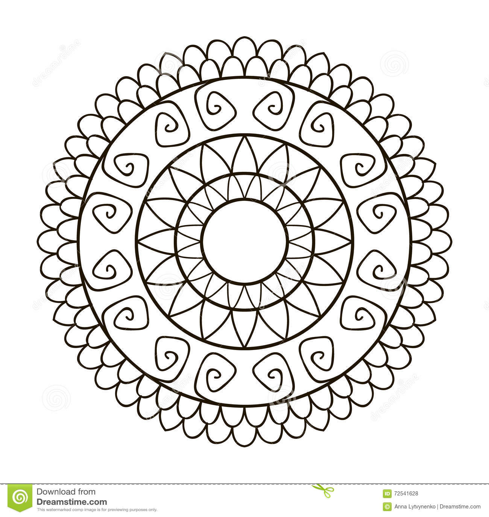 Florezca La Mandala Para Las Tarjetas, Las Impresiones, La Materia ...