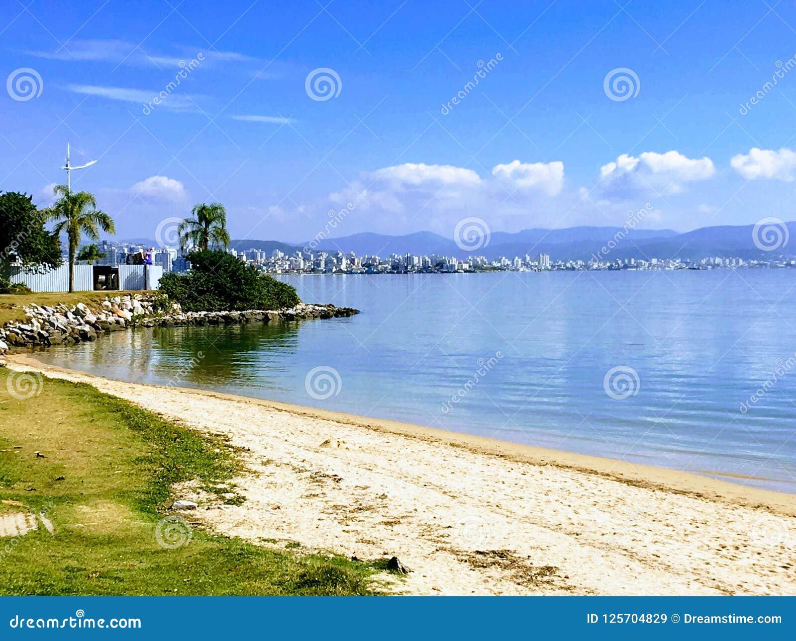 Florianopolis Santa Catarina strand av Brasilien