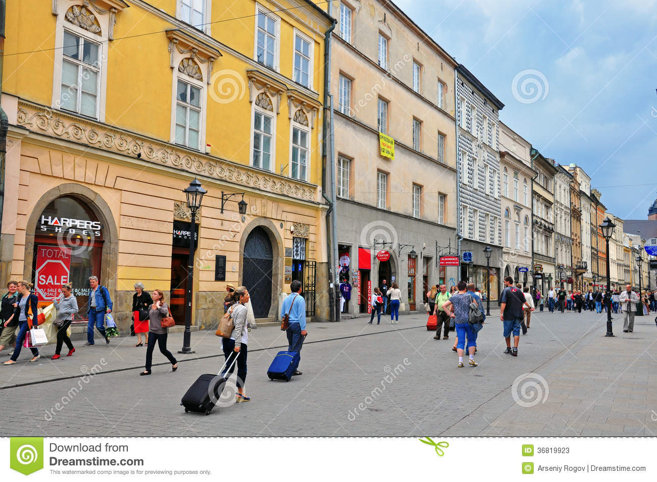 Florianska Main Shopping Street Of Krakow Editorial Stock Photo Image 36819923