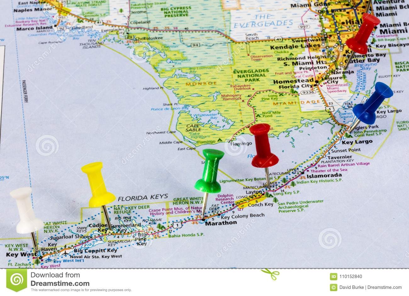Karte Florida Miami.Florida Befestigt Miami Karte Redaktionelles Bild Bild Von