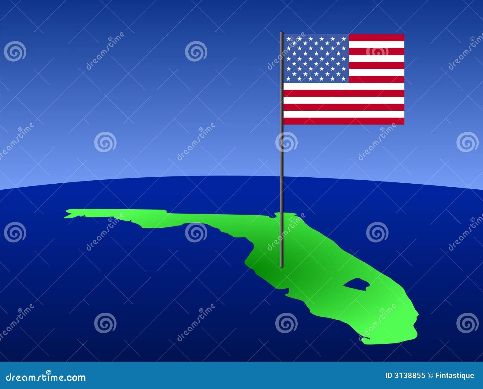 Florida con la bandiera americana