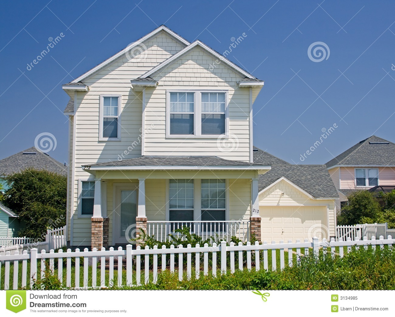Florida Cottage Style Home 2 Royalty Free Stock Photo