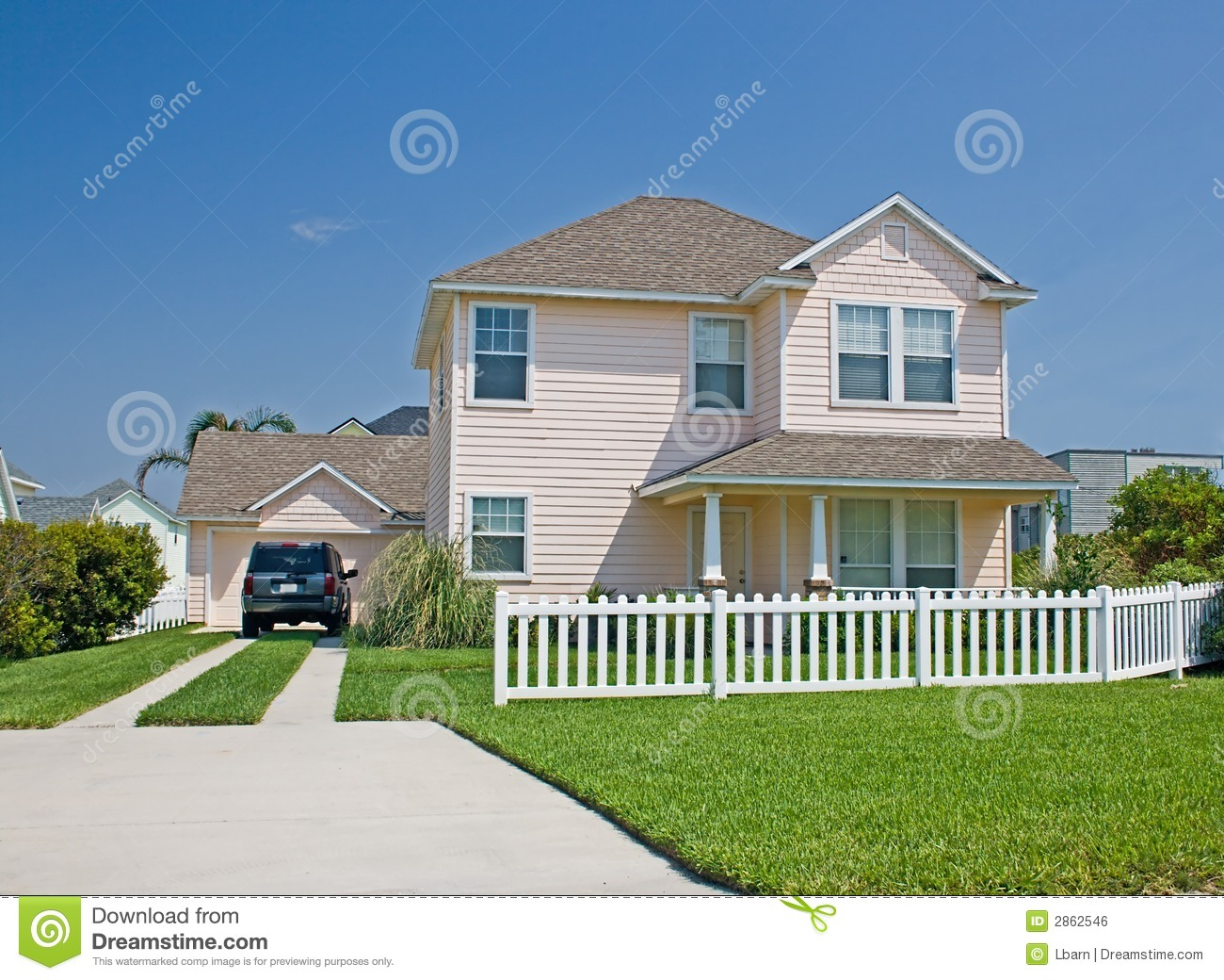 Florida Cottage Style Home 4 Royalty Free Stock Image