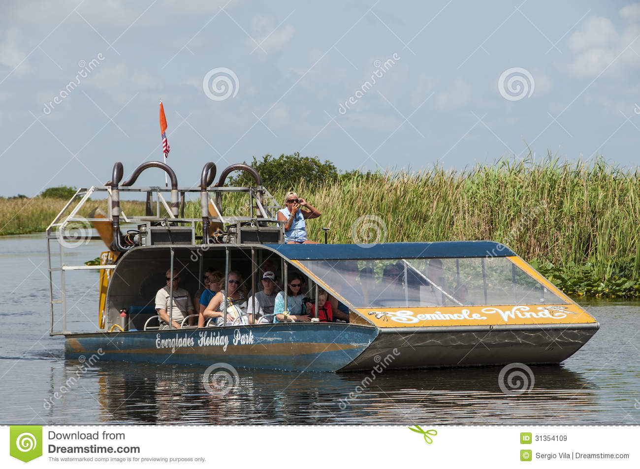 Florida Everglades Airboat Editorial Stock Image - Image: 31354109