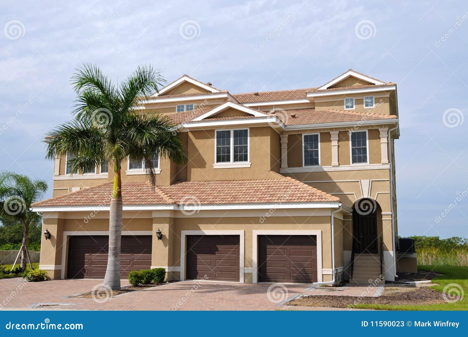 Florida House stock image  Image of grass, palm, beach
