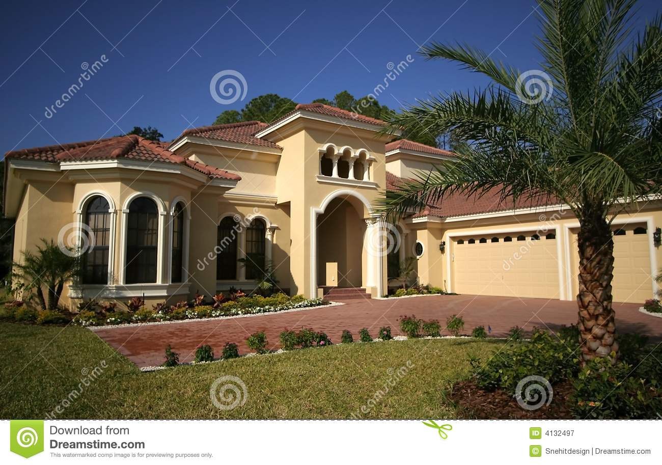 Royalty Free Stock Photography Florida House Image4132497 on florida coastal house plans