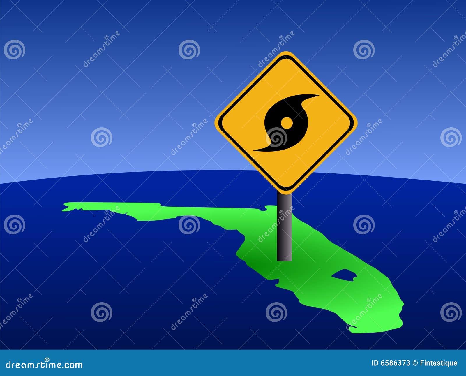 Florida huraganu znak
