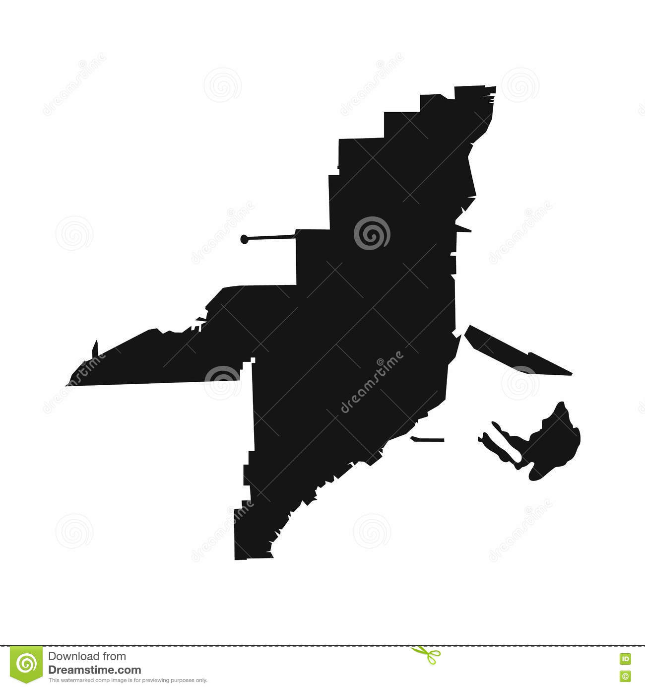 Florida Map Icon Simple Style Stock Vector Image - Florida map black and white
