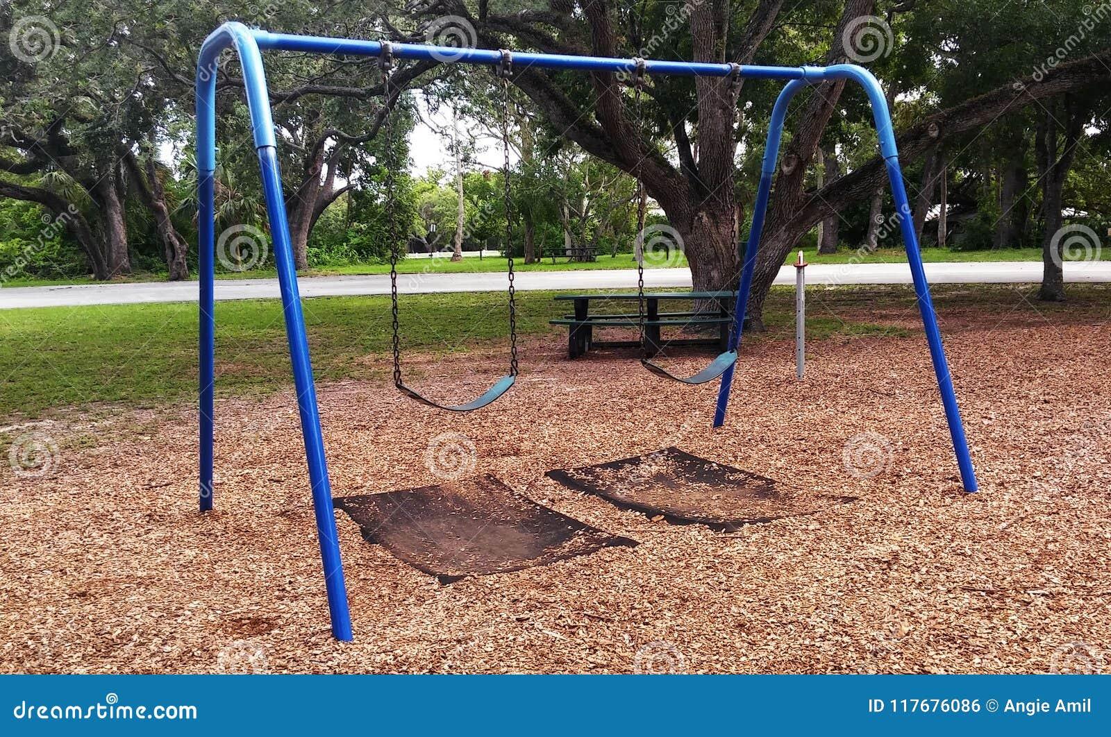 Public Playground Swing Set Stock Photo Image Of Lonely