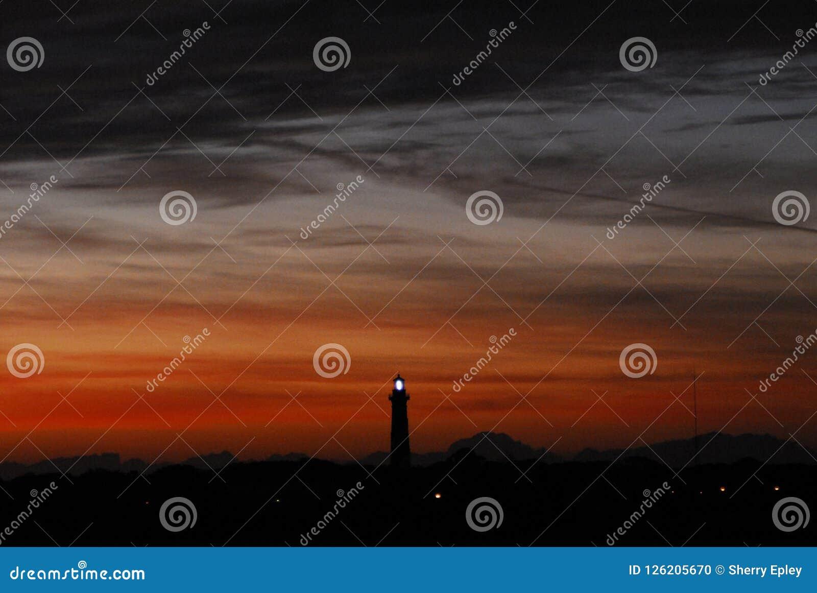 Florida St Augustine Lighthouse bij Zonsondergang